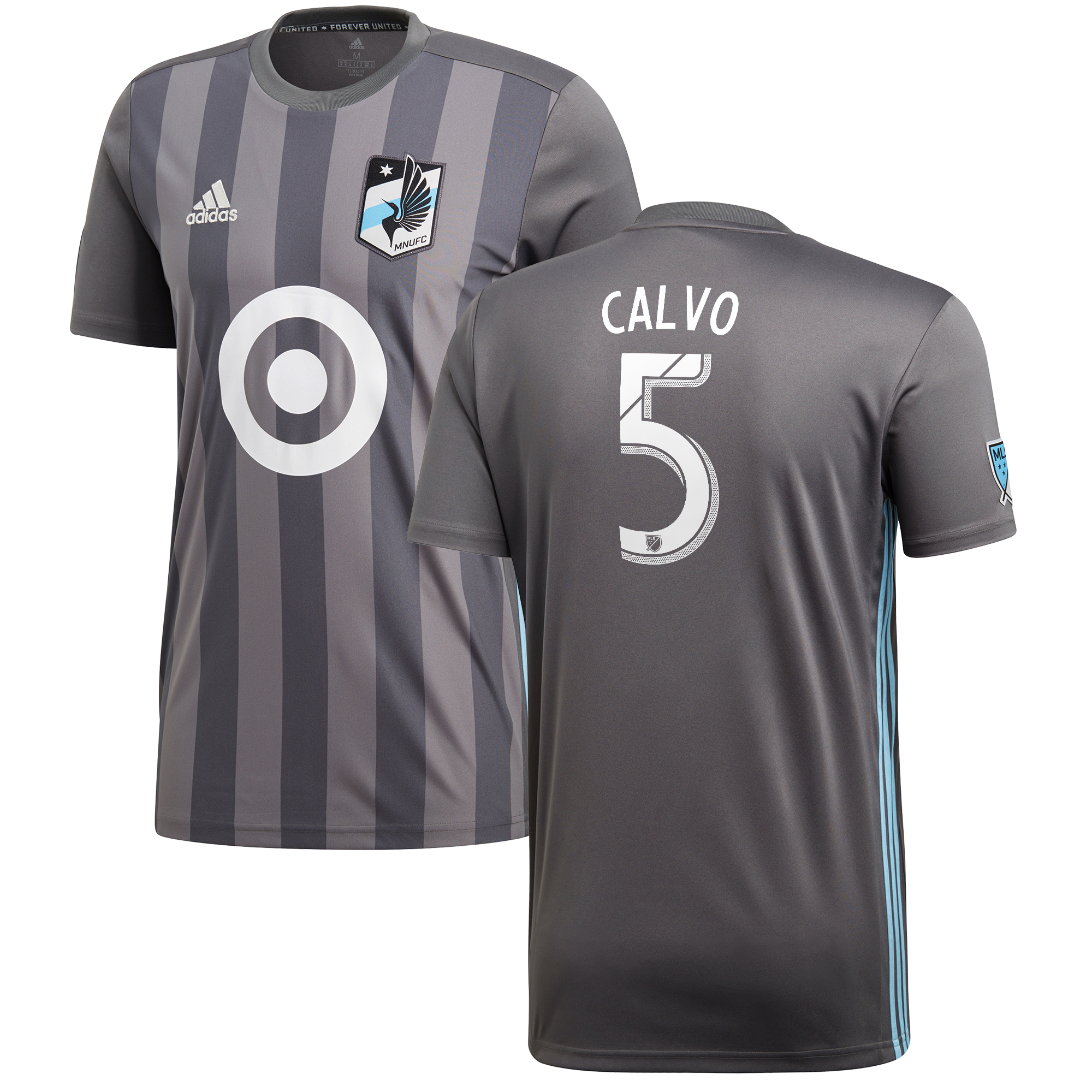 Minnesota United Home Shirt 2018 with Calvo 5 printing