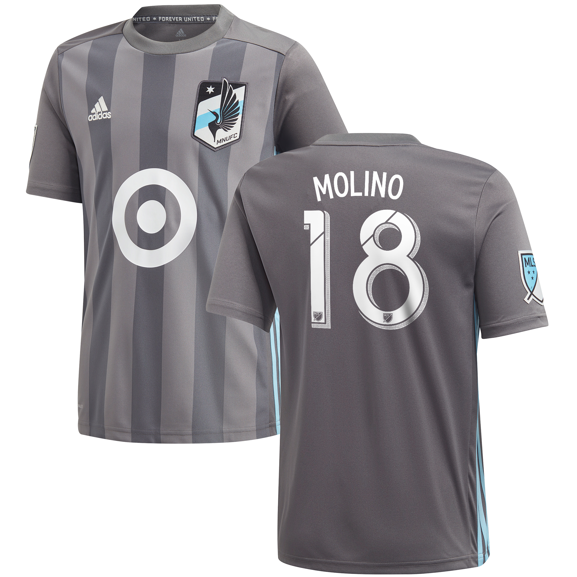 Minnesota United Home Shirt 2018 - Kids with Molino 18 printing