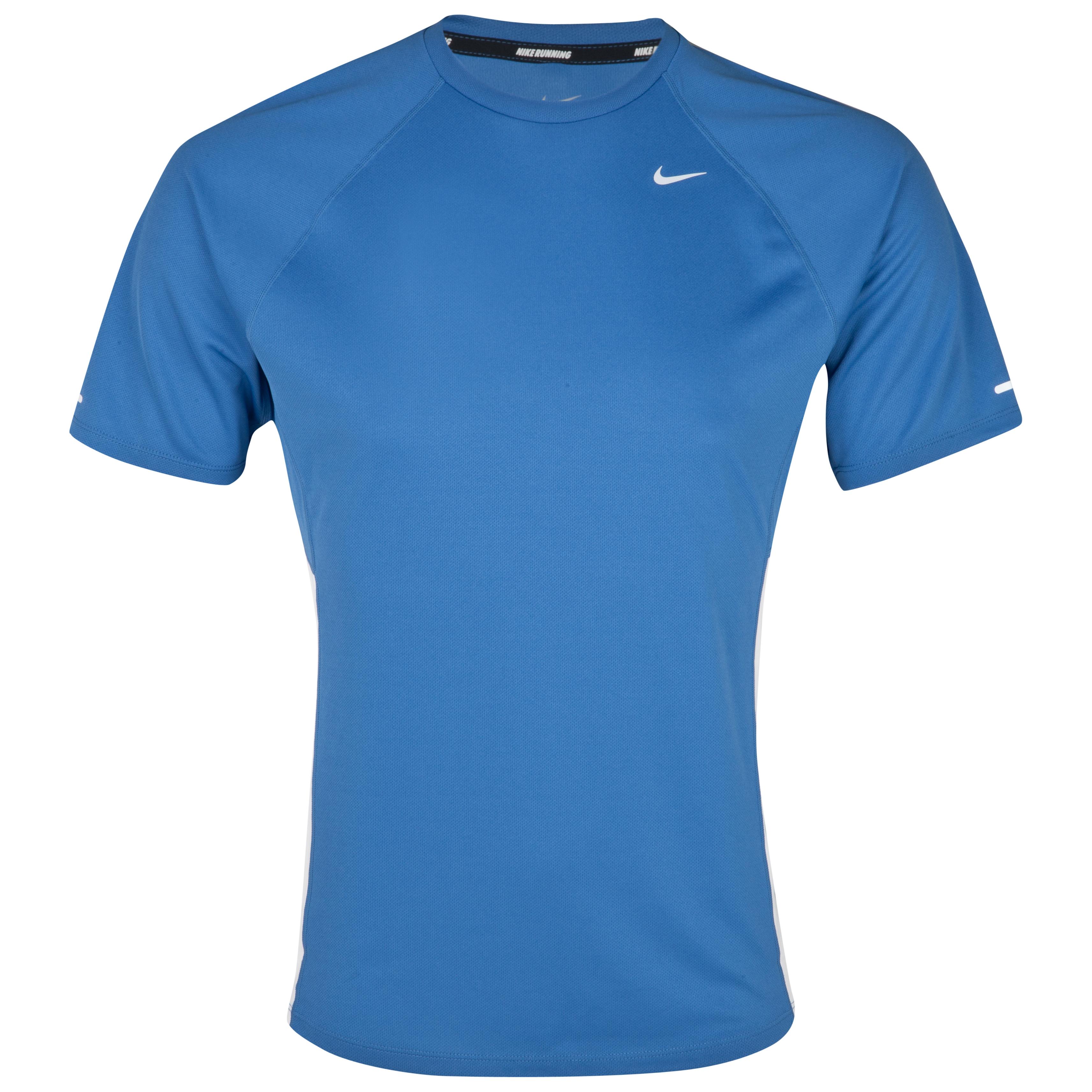 Nike Miler UV Team T-Shirt - Varsity Blue/White/Reflective Silver