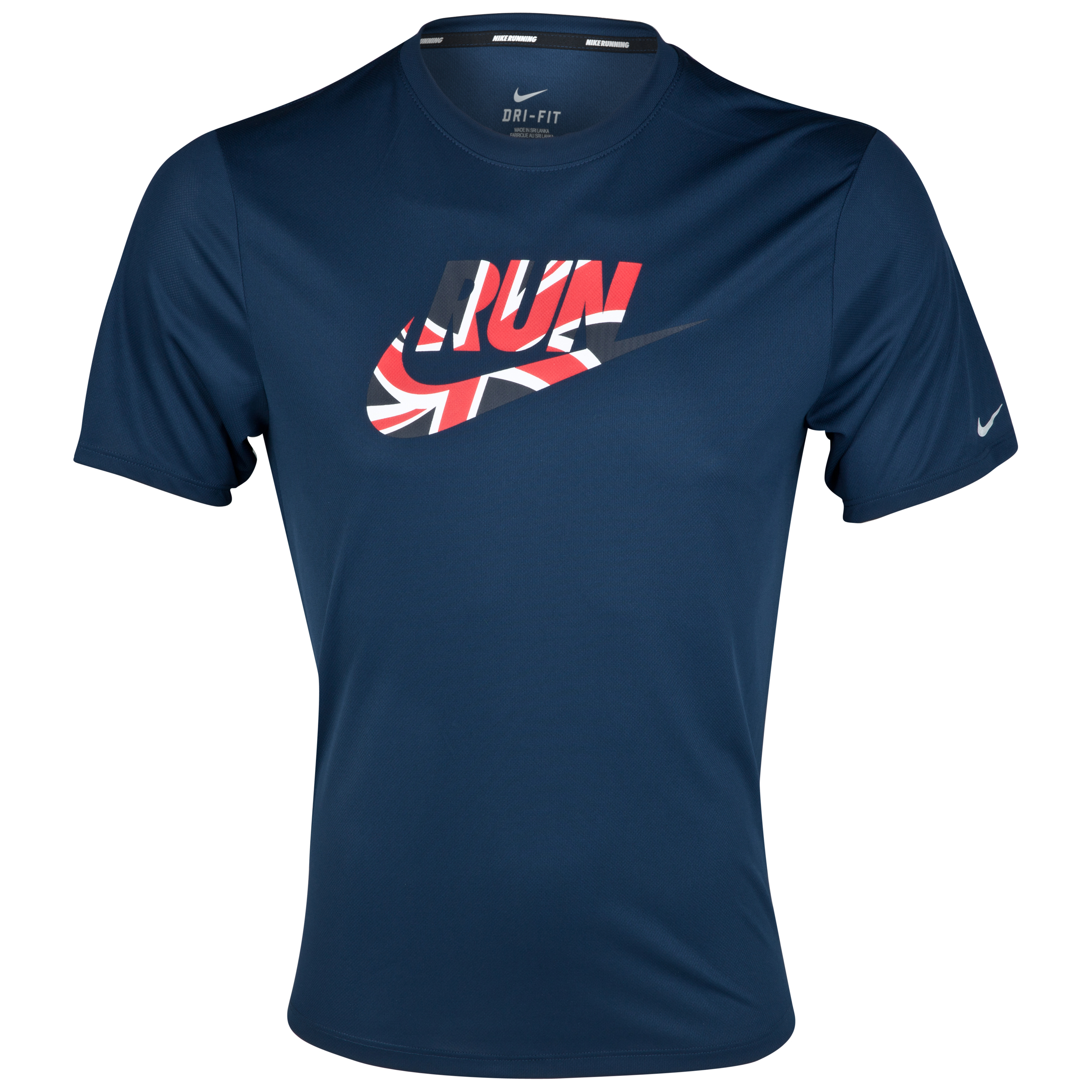 Nike Challenger Swoosh Run T-Shirt - Light Midnight/Sport Red/Reflective Silver