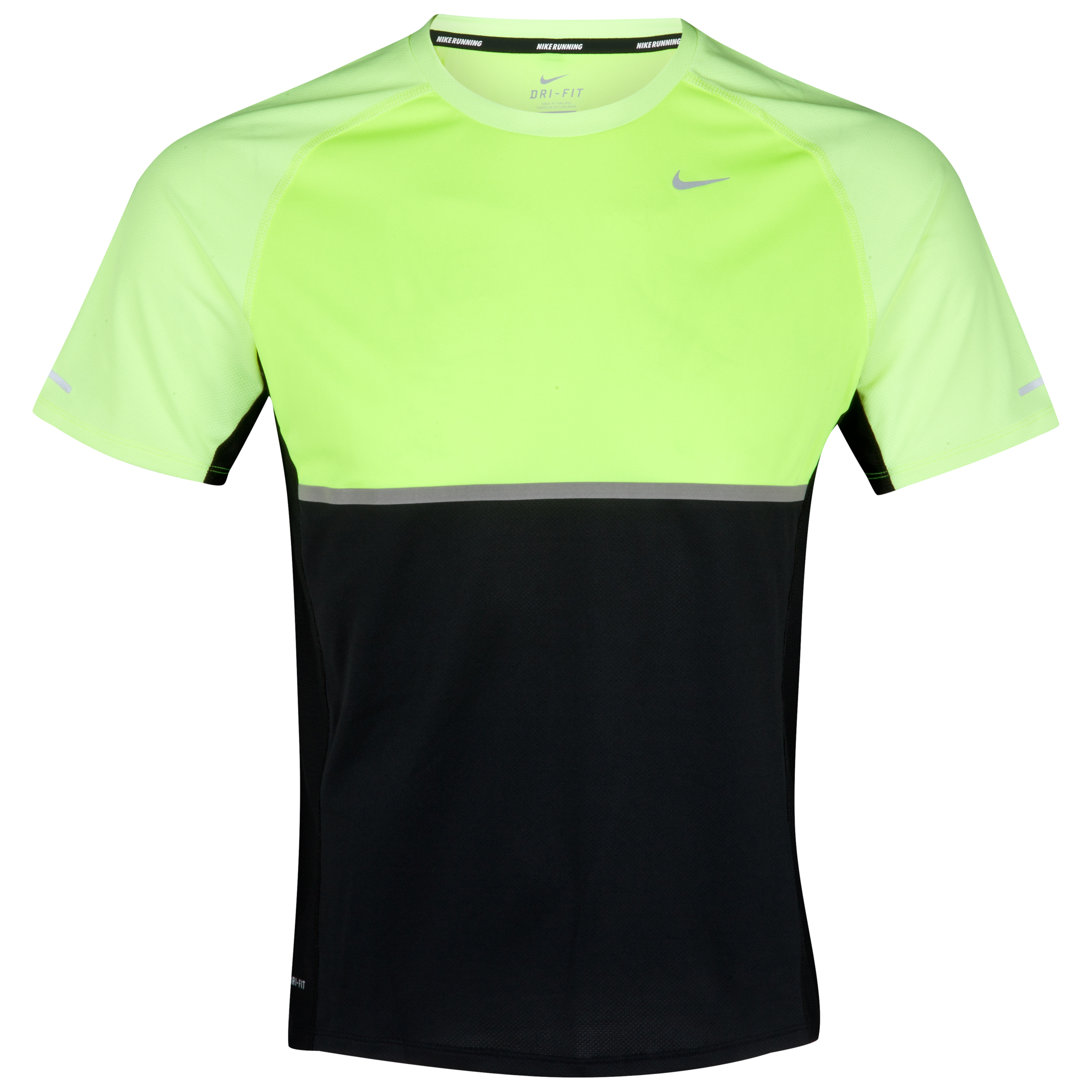 Nike Sphere T-Shirt - Black/Volt/Light Charcoal/Reflective Silver