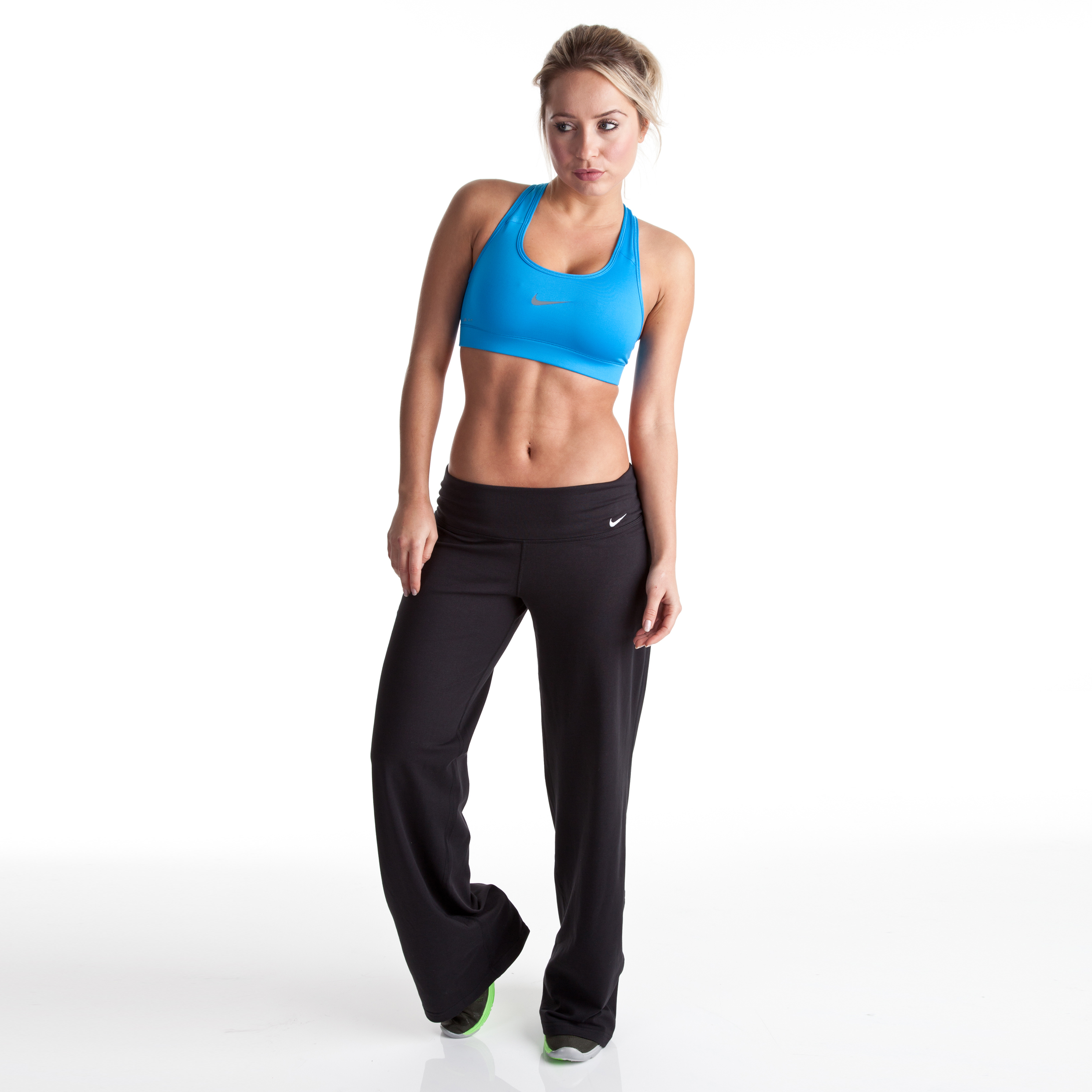Nike Loose Cotton Pant - Black/Black/White - Womens