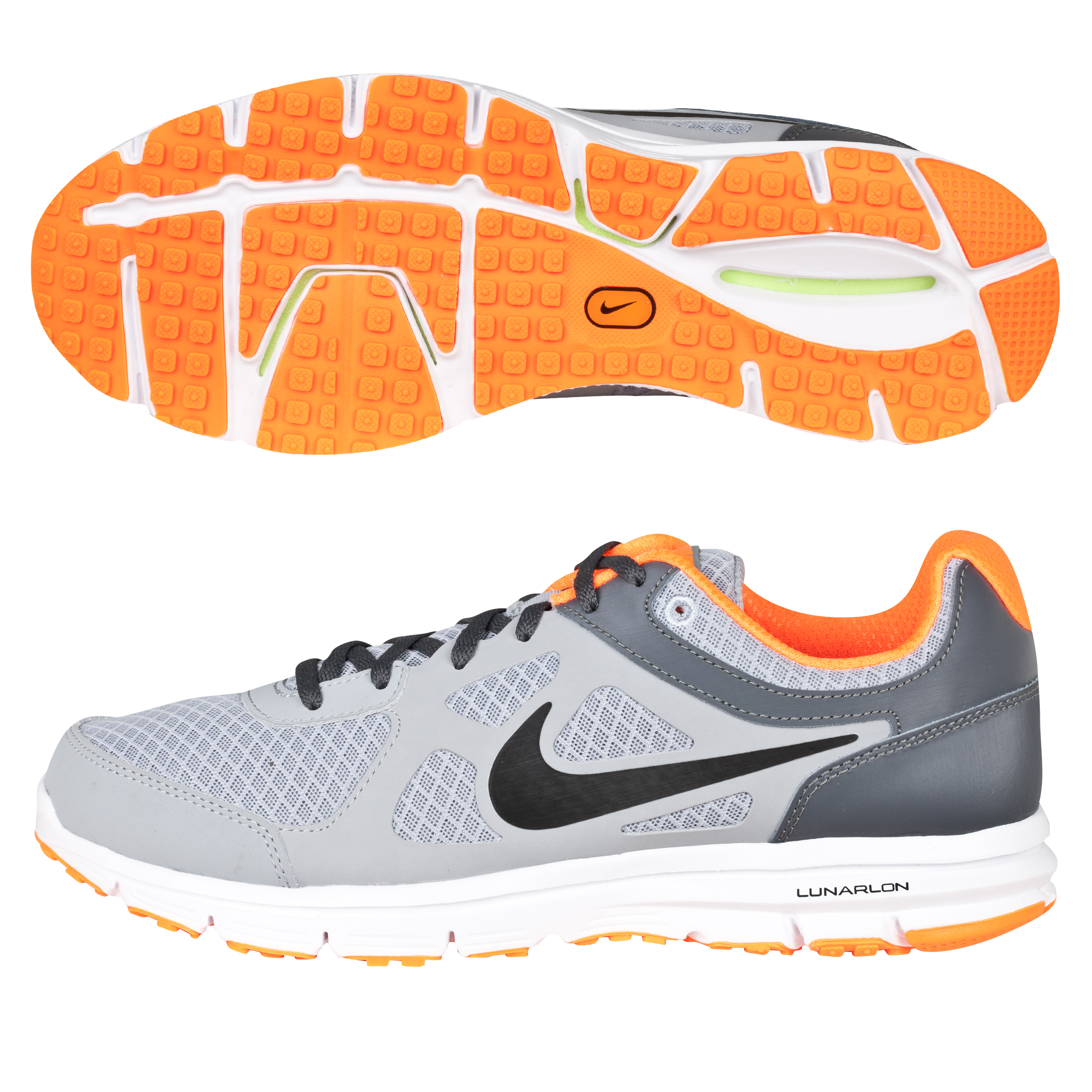 Nike Lunar Forever Trainers - Wolf Grey/Black/Dark Grey/Total Orange