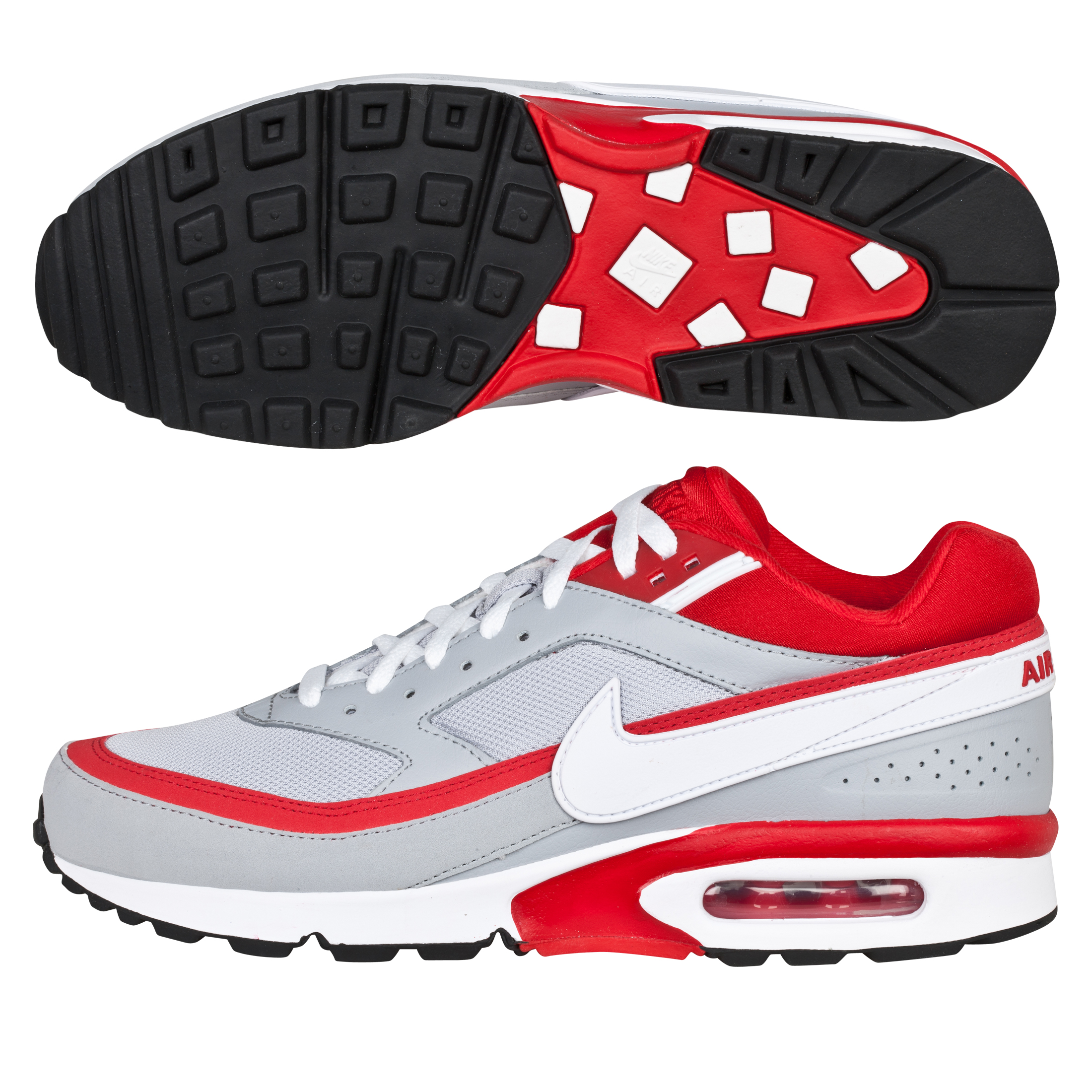 Nike Air Classic BW Textile SI Trainers - Wolf Grey/Sport Red/White/Black