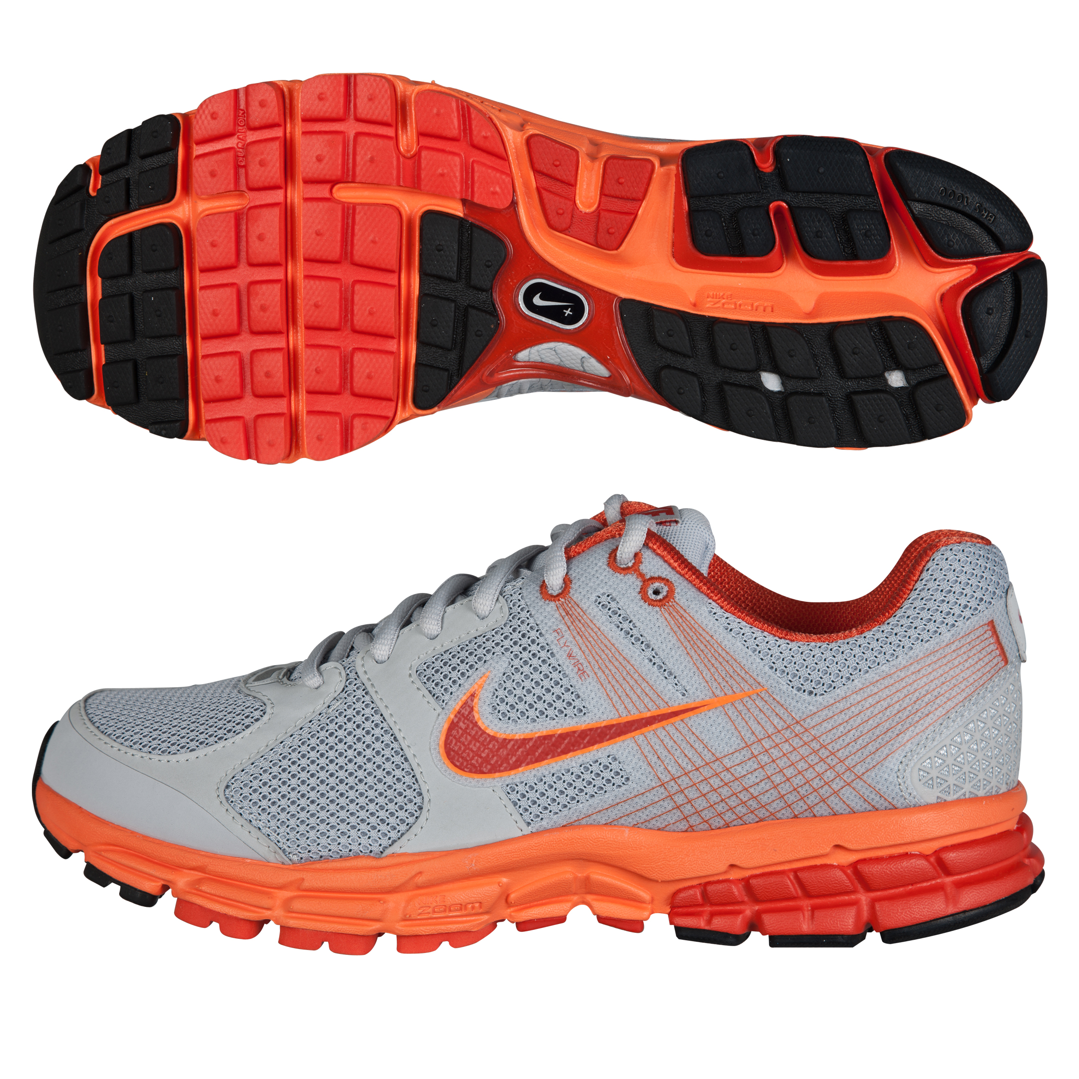 Nike Zoom Structure(+) 15 Trainers - Platinum/Orange/Total Orange