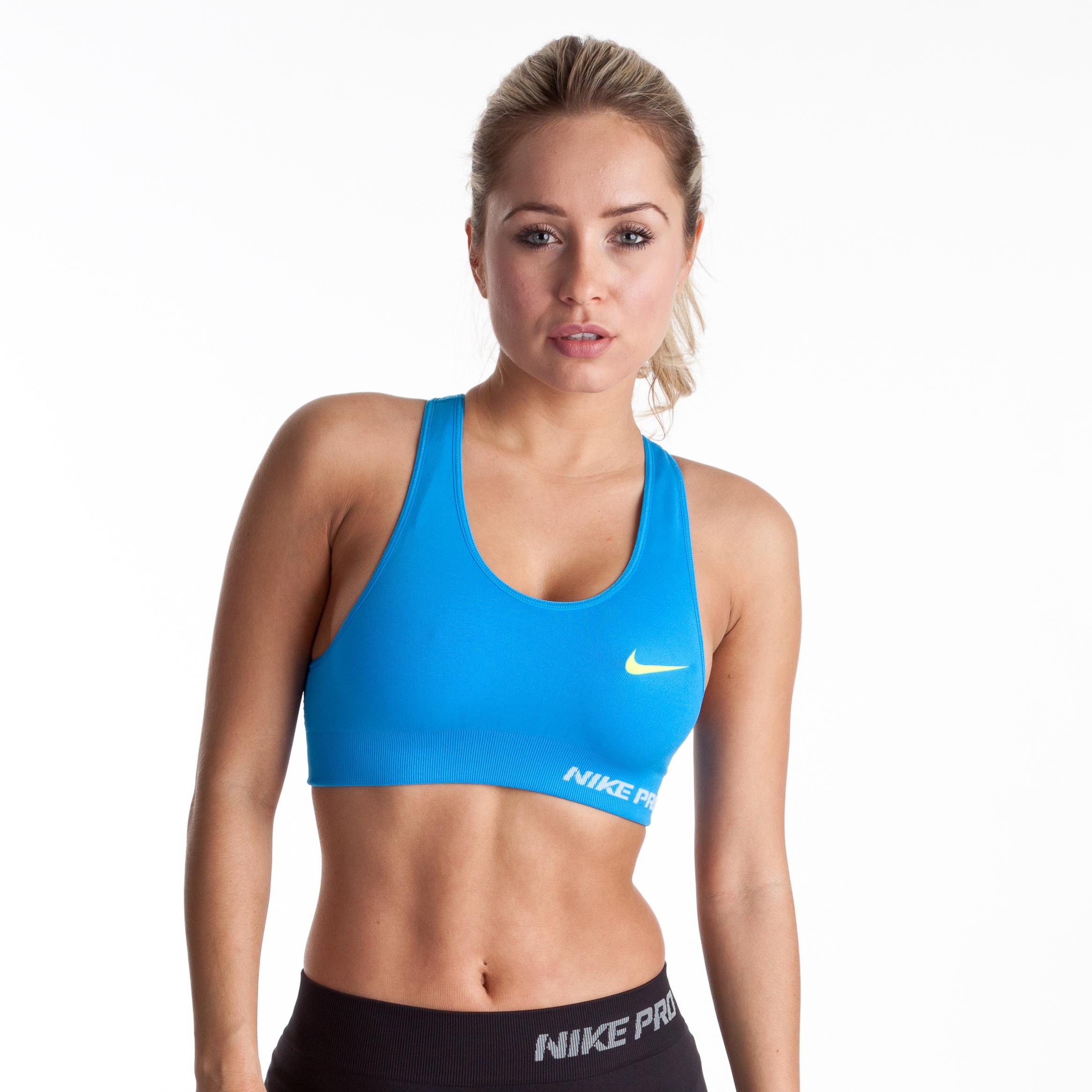 Nike Pro Limitless Bra - Blue Glow/Volt - Womens