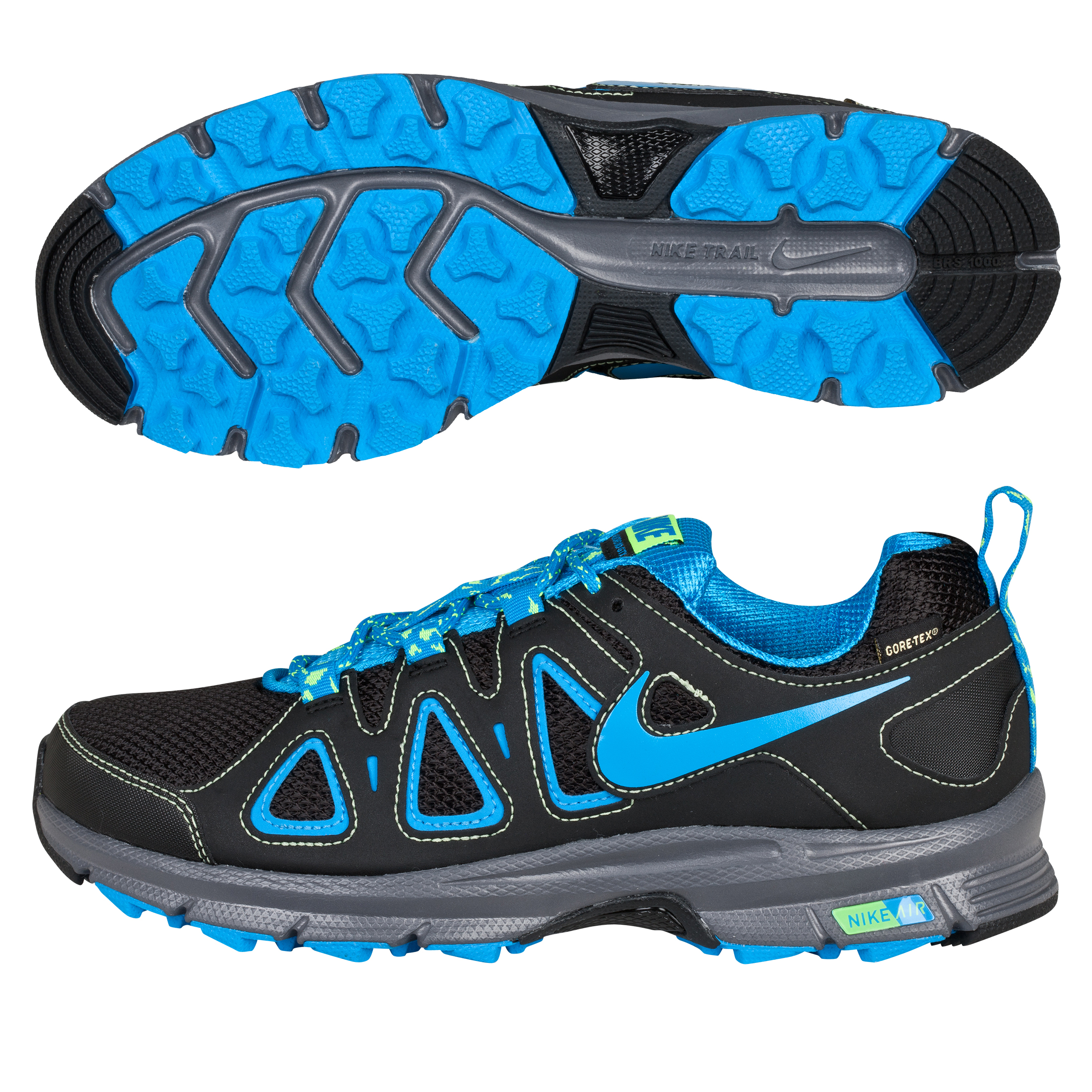 Nike Air Alvord 10 GTX Trainers - Black/Blue Glow/Volt/Dark Grey - Womens