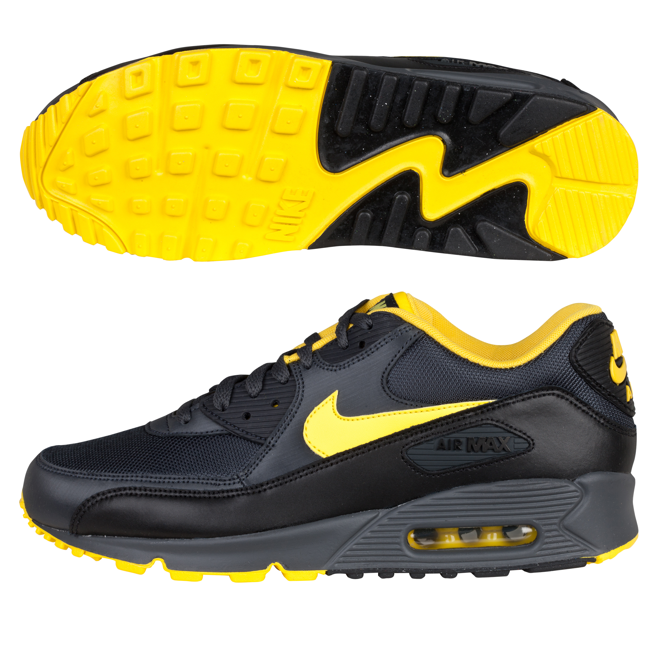 Nike Air Max 90 inch08 Trainers - Anthracite/Speed Yellow/Black/Natural Grey
