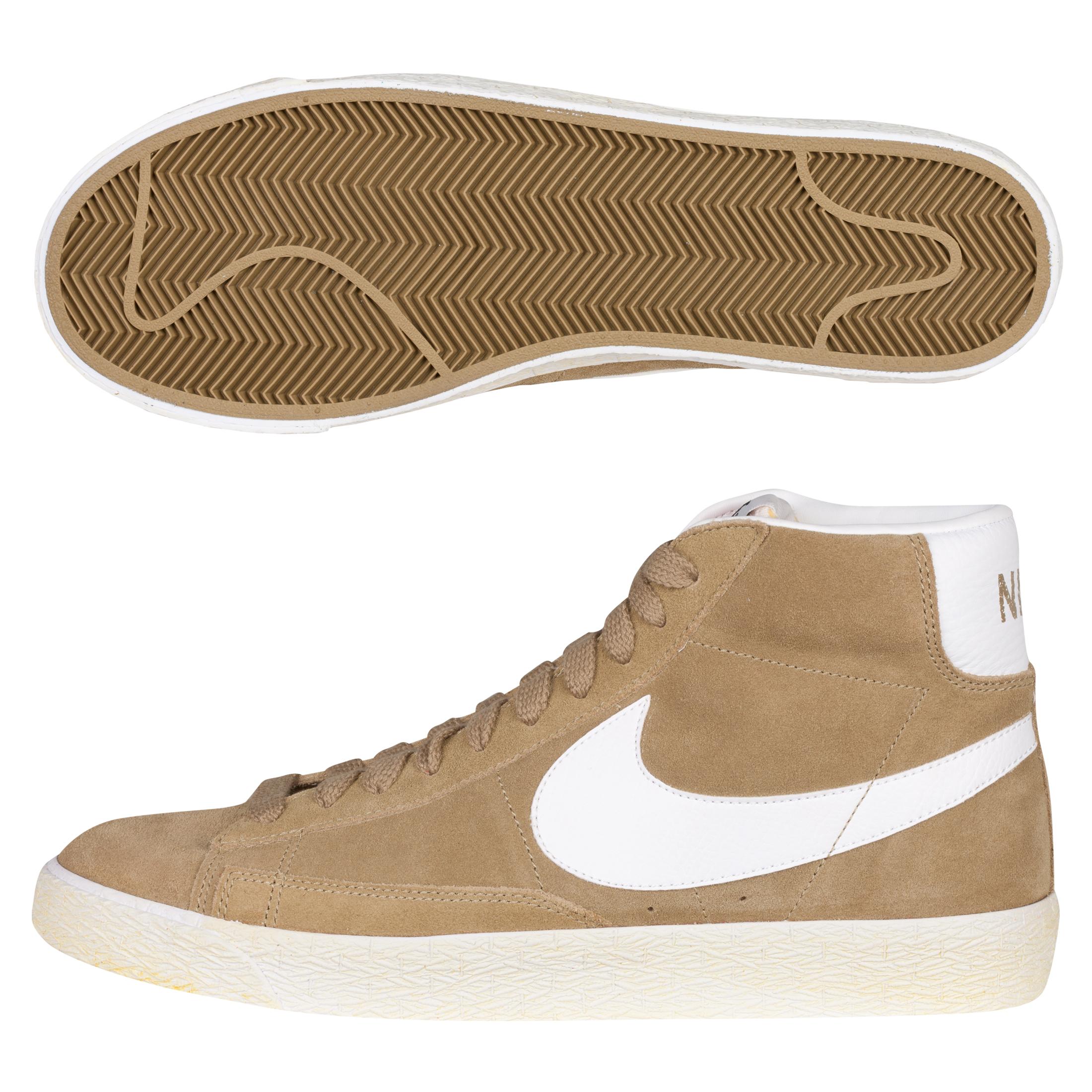 Nike Blazer Mid Trainers - Filbert/White
