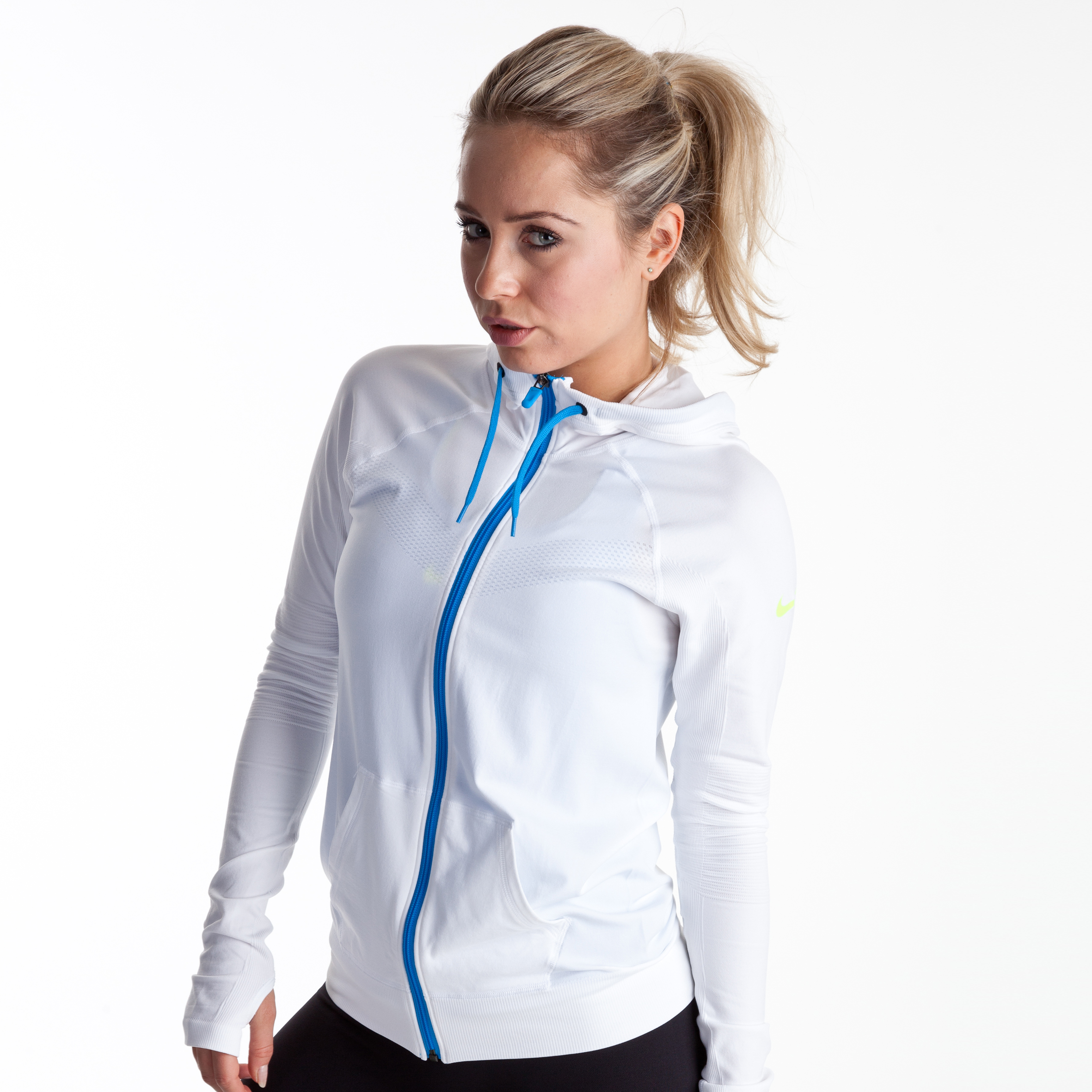 Nike Limitless Jacket - White/Volt - Womens
