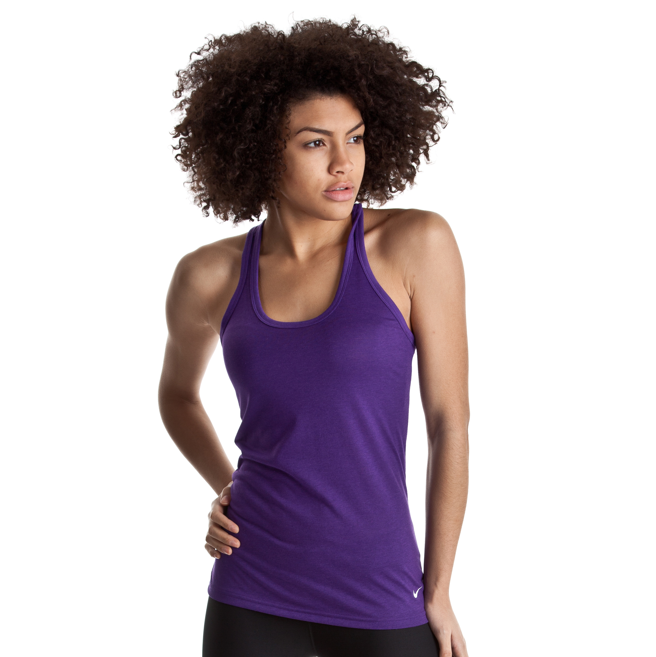 Nike Loose Tri Blend Tank - Club Purple/White - Womens