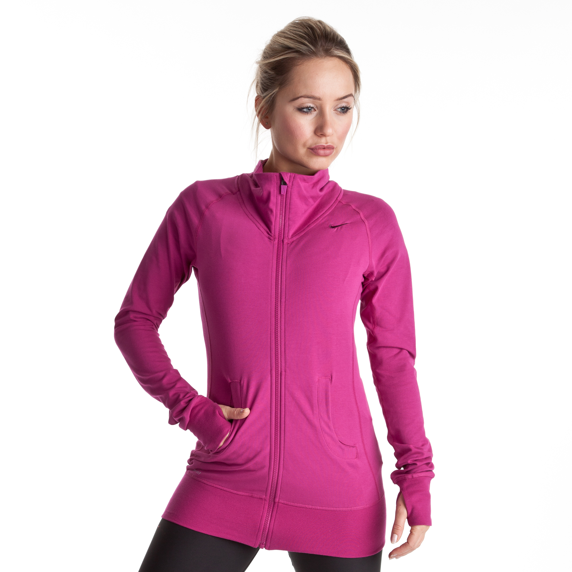 Nike Dry Fit Empire Jacket - Rave Pink/Bordeaux - Womens