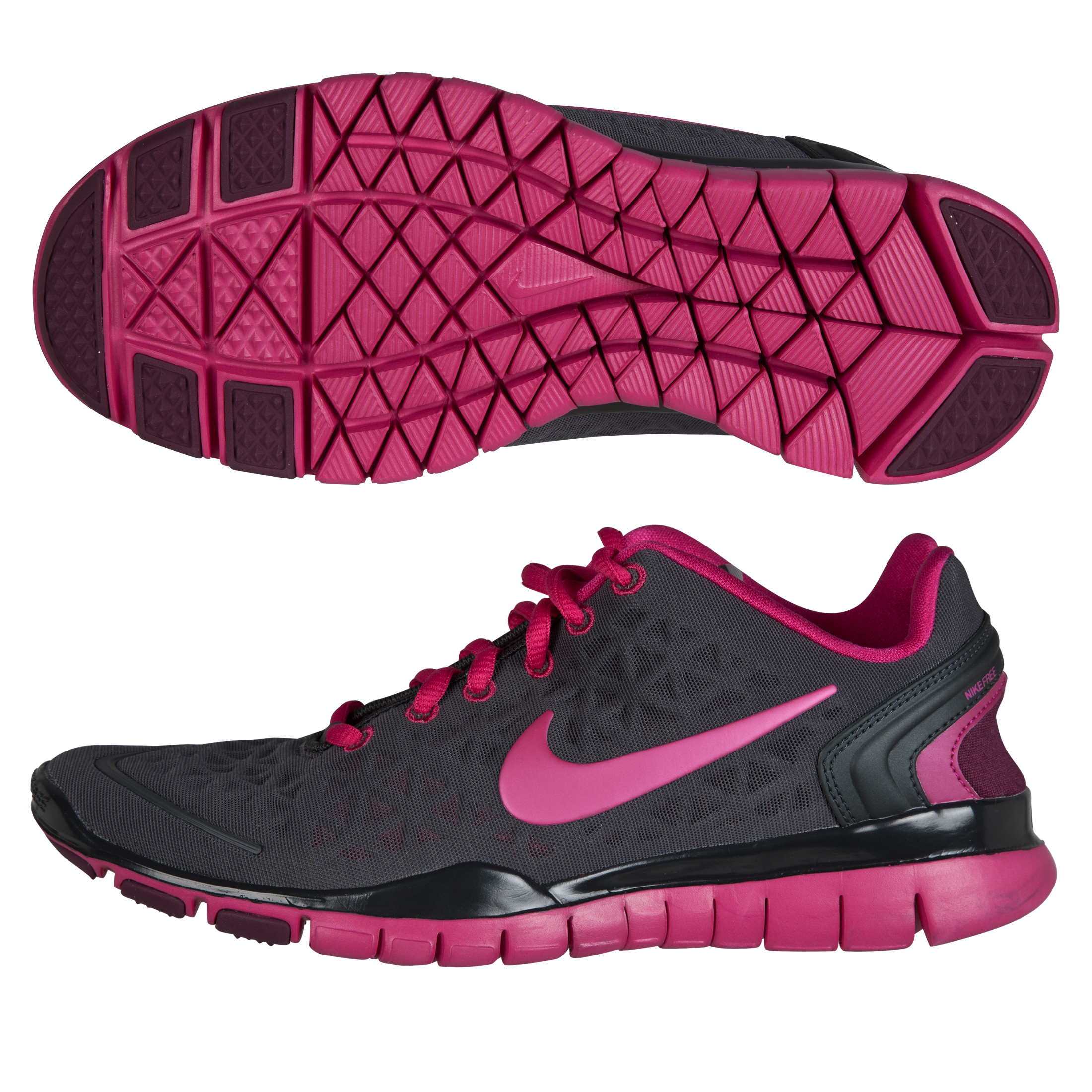 Nike Womens Nike Free Trainer Fit 2 - Anthracite/Fireberry-Bordeaux - Womens