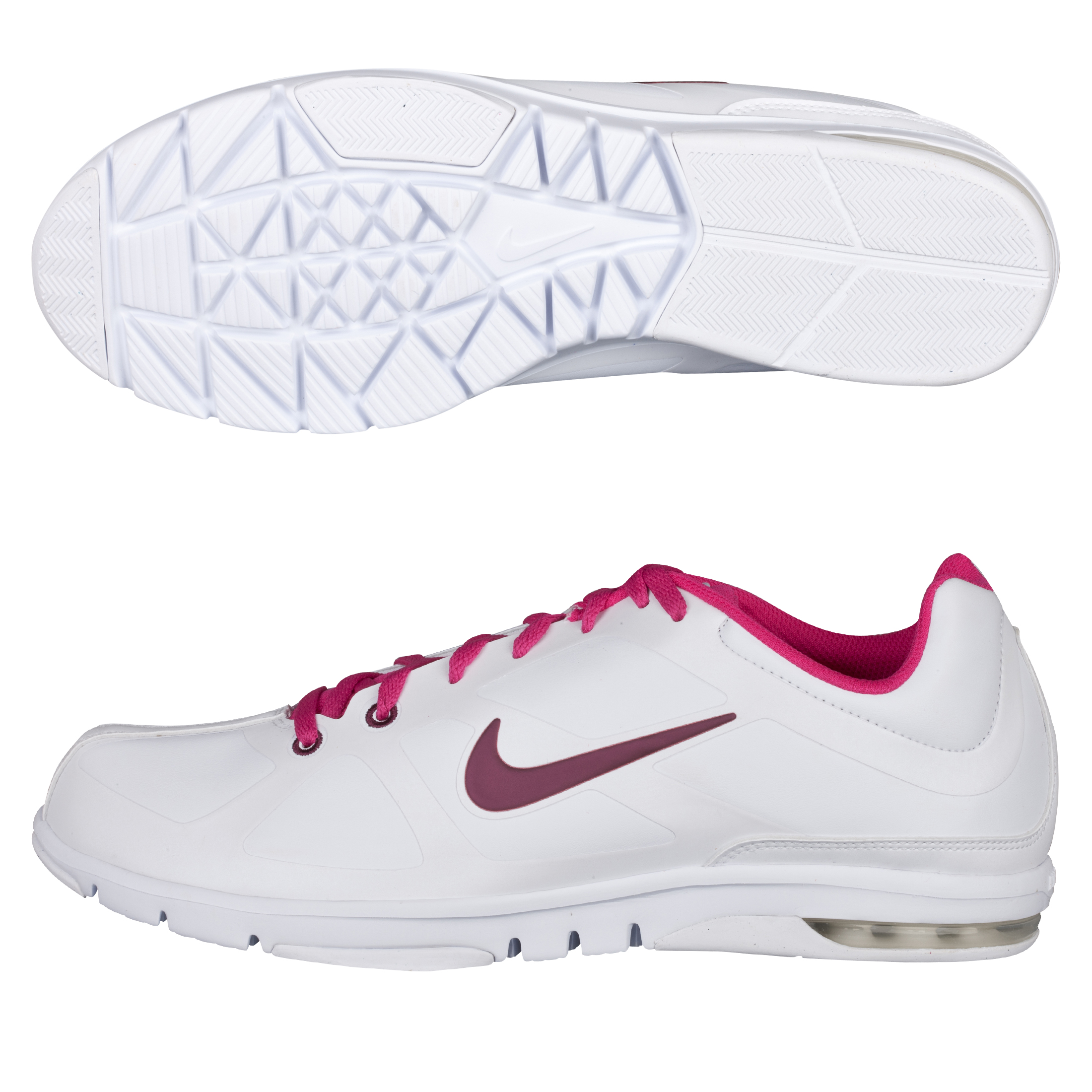 Nike Womens Air Max Trainer - White/Bordeaux-Fireberry - Womens