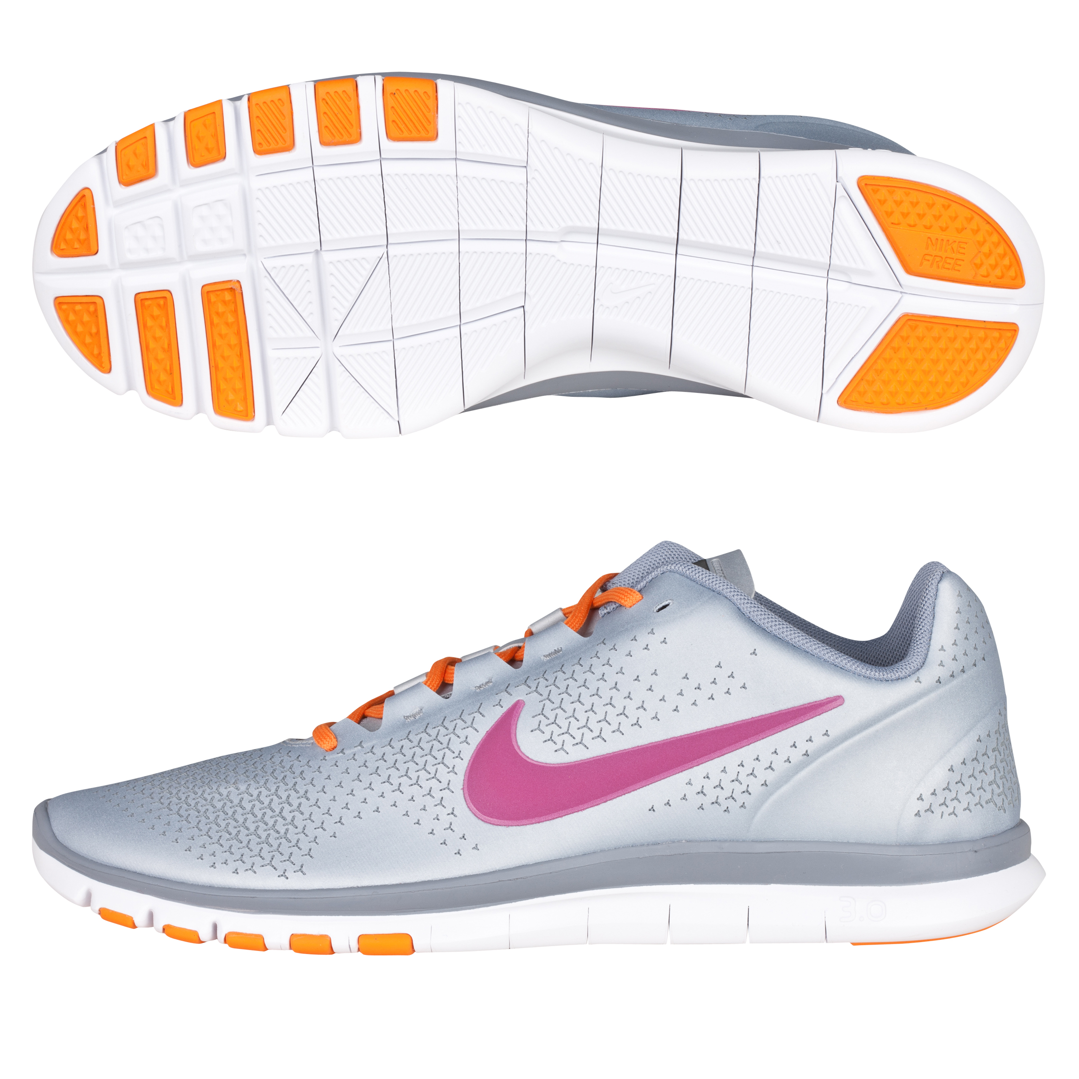 Nike Womens Free Advantage Trainer - Platinum/Fireberry - Womens