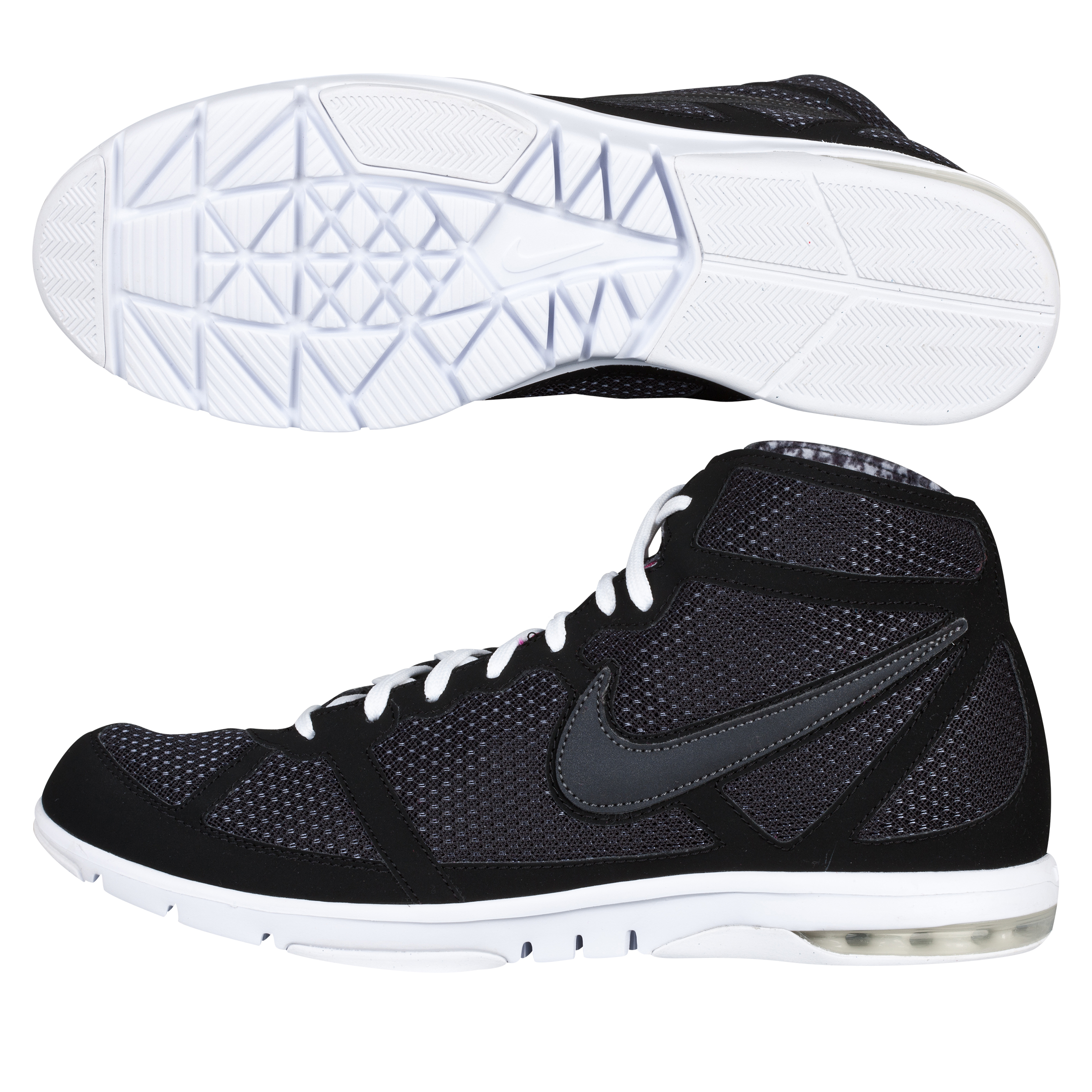 Nike Womens Air Max Mid Trainer - Black/Dark Grey - Womens