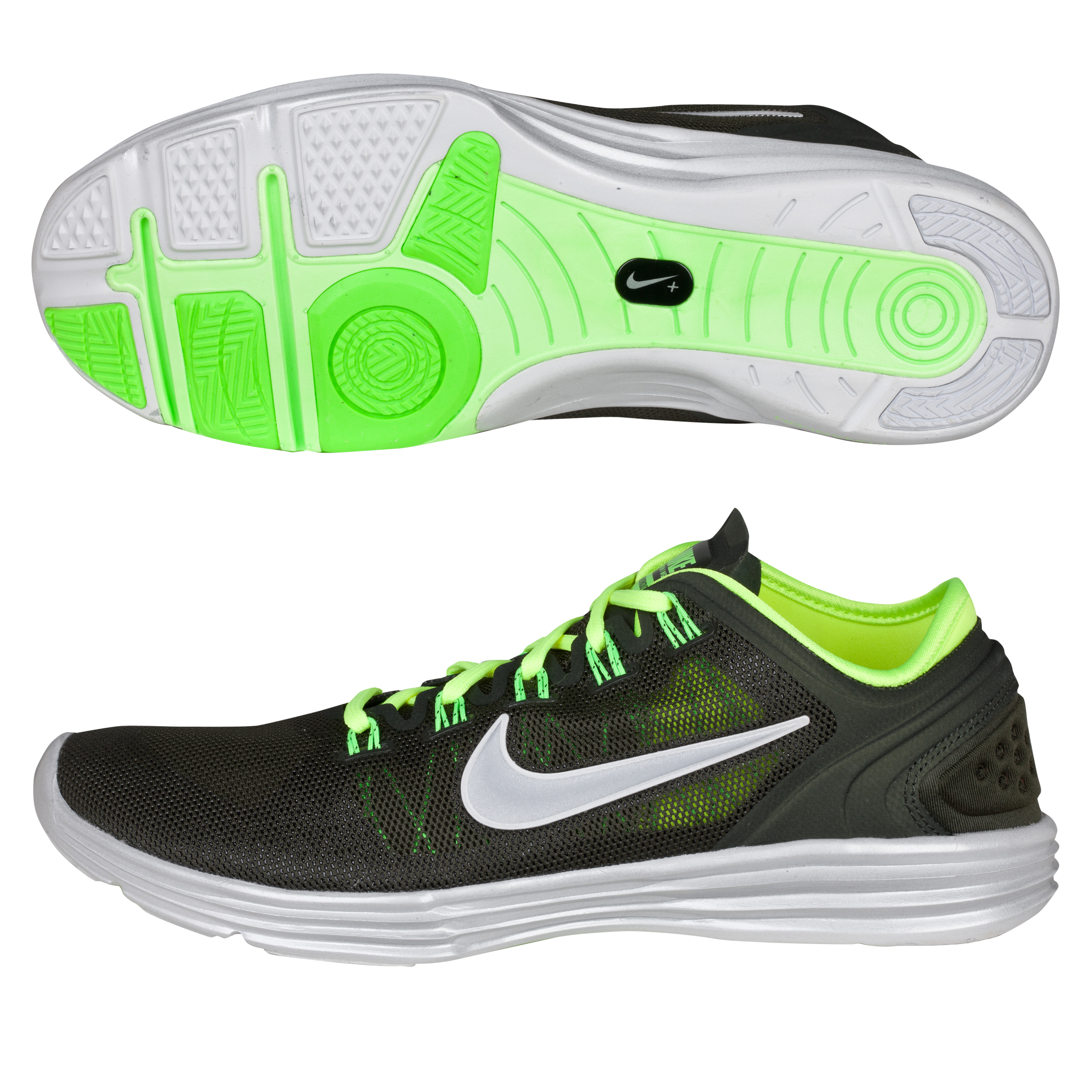 Nike Womens Lunar Hyperworkout Xt+ Trainer - Silver/Green - Womens