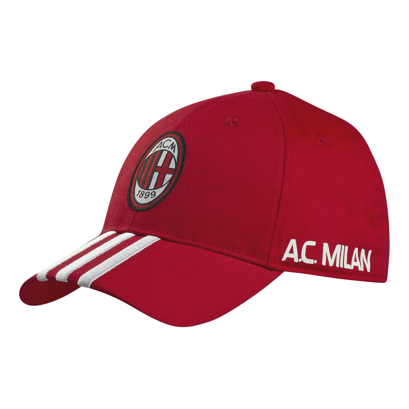 adidas AC Milan 3 Stripe Cap - Acm Red 98/White