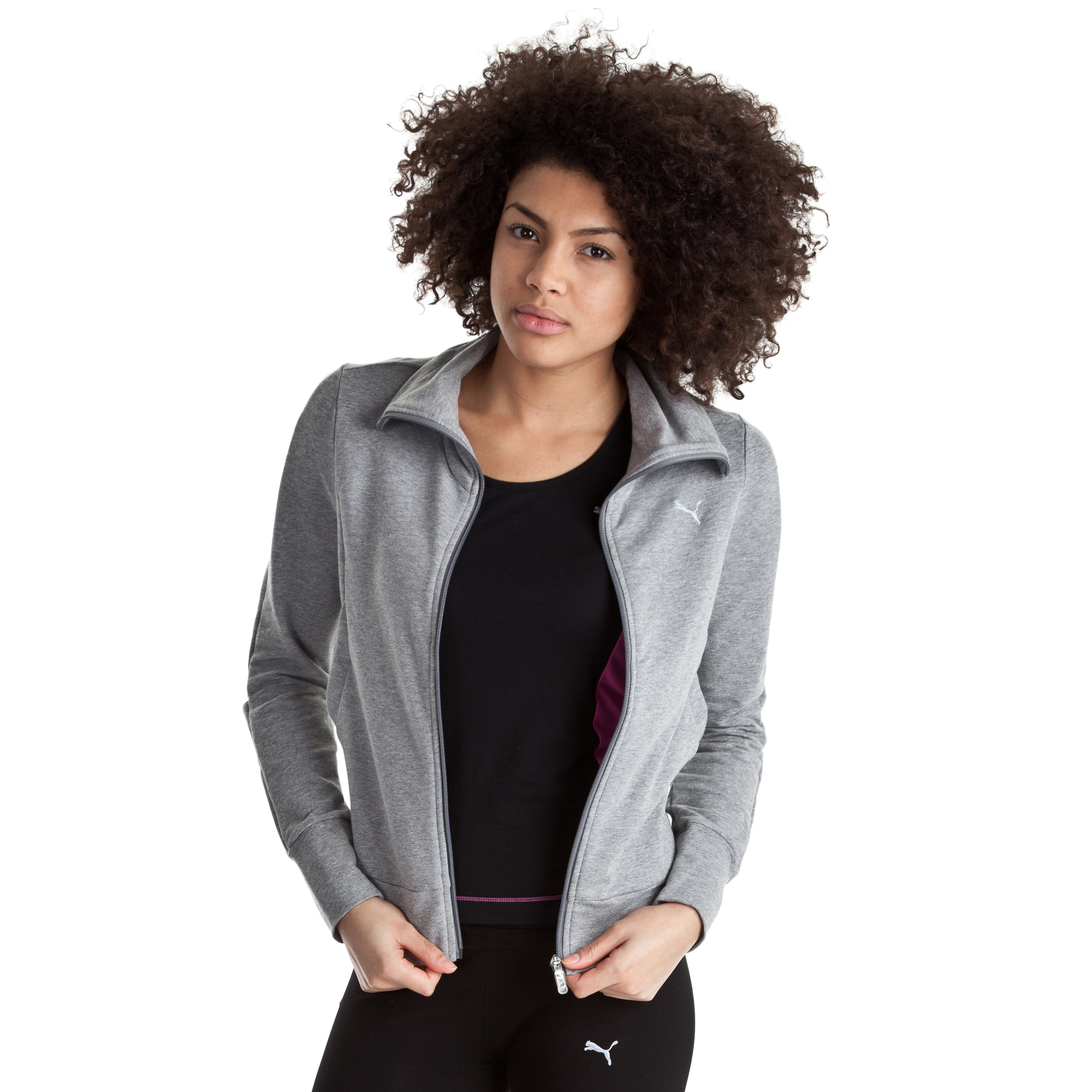 Puma Move Sweat Jacket - Grey Heather - Female