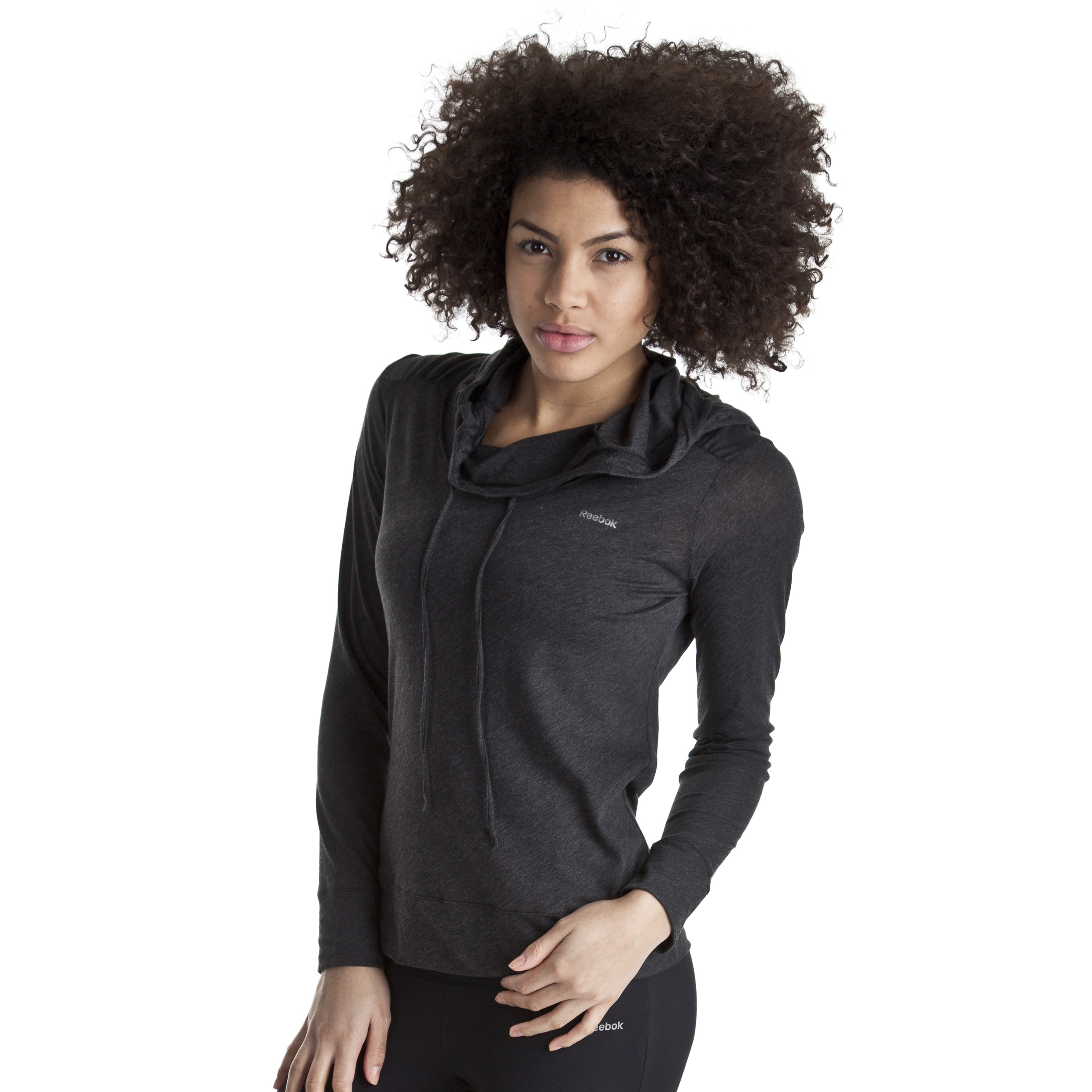 Reebok EasyTone Hoody - Black Melange - Women