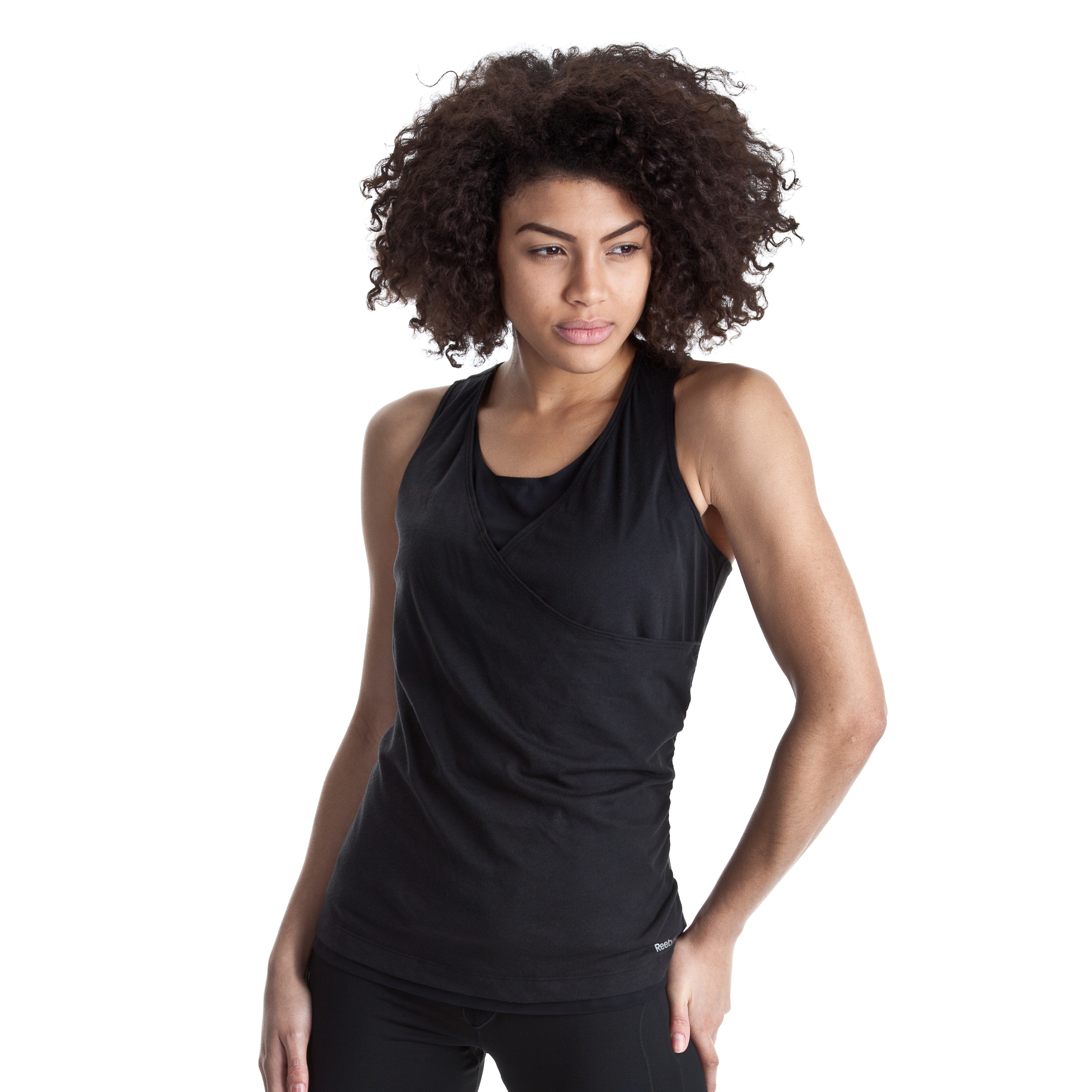 Reebok Double Layer Shapewear Tank - Black - Women