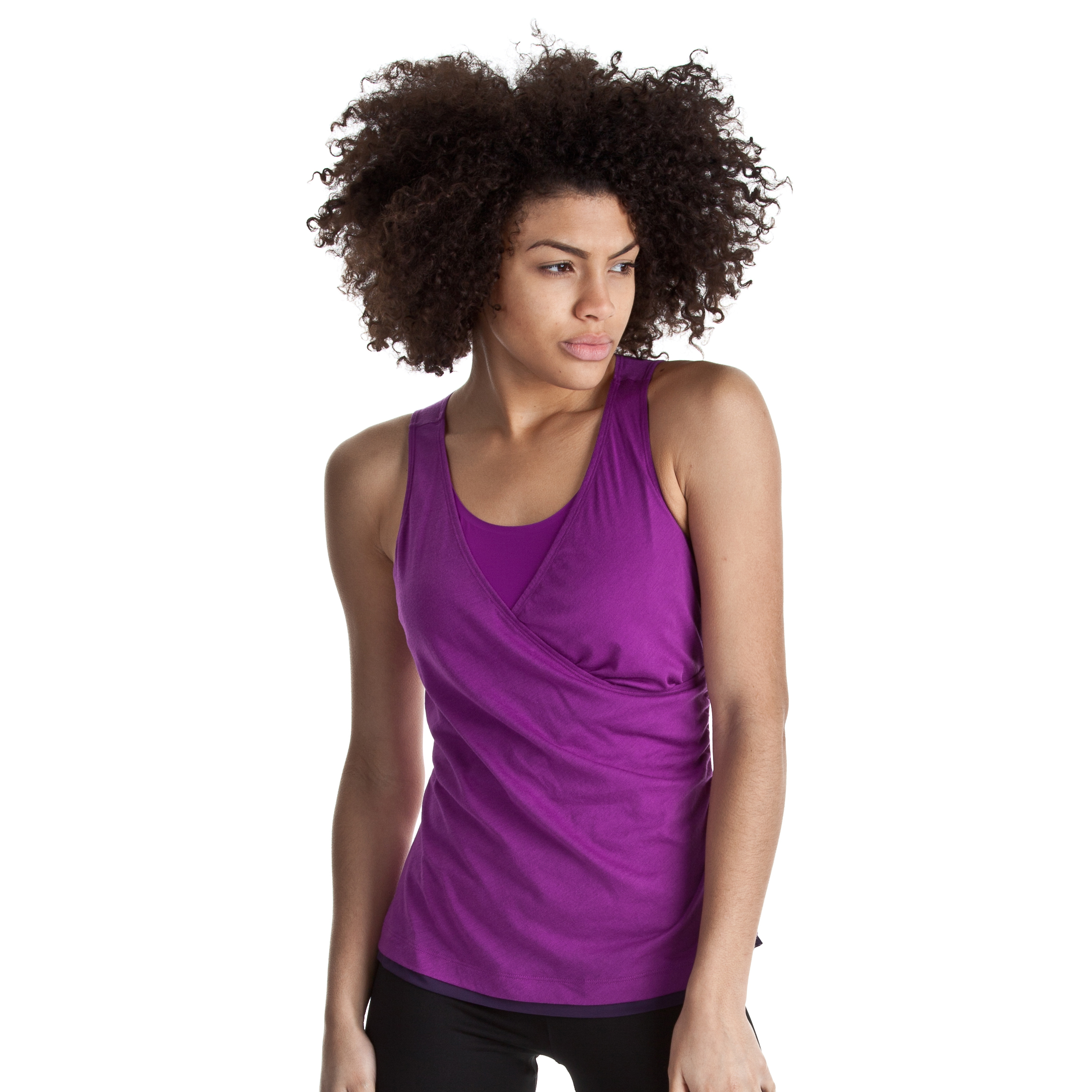 Reebok Double Layer Shapewear Tank - Aubergine - Women