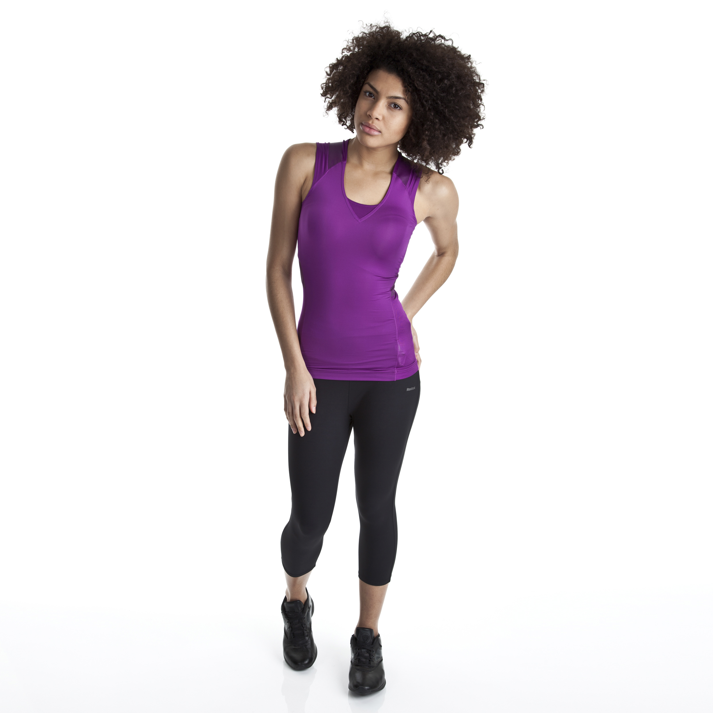 Reebok Shapewear Capri - Women - Black
