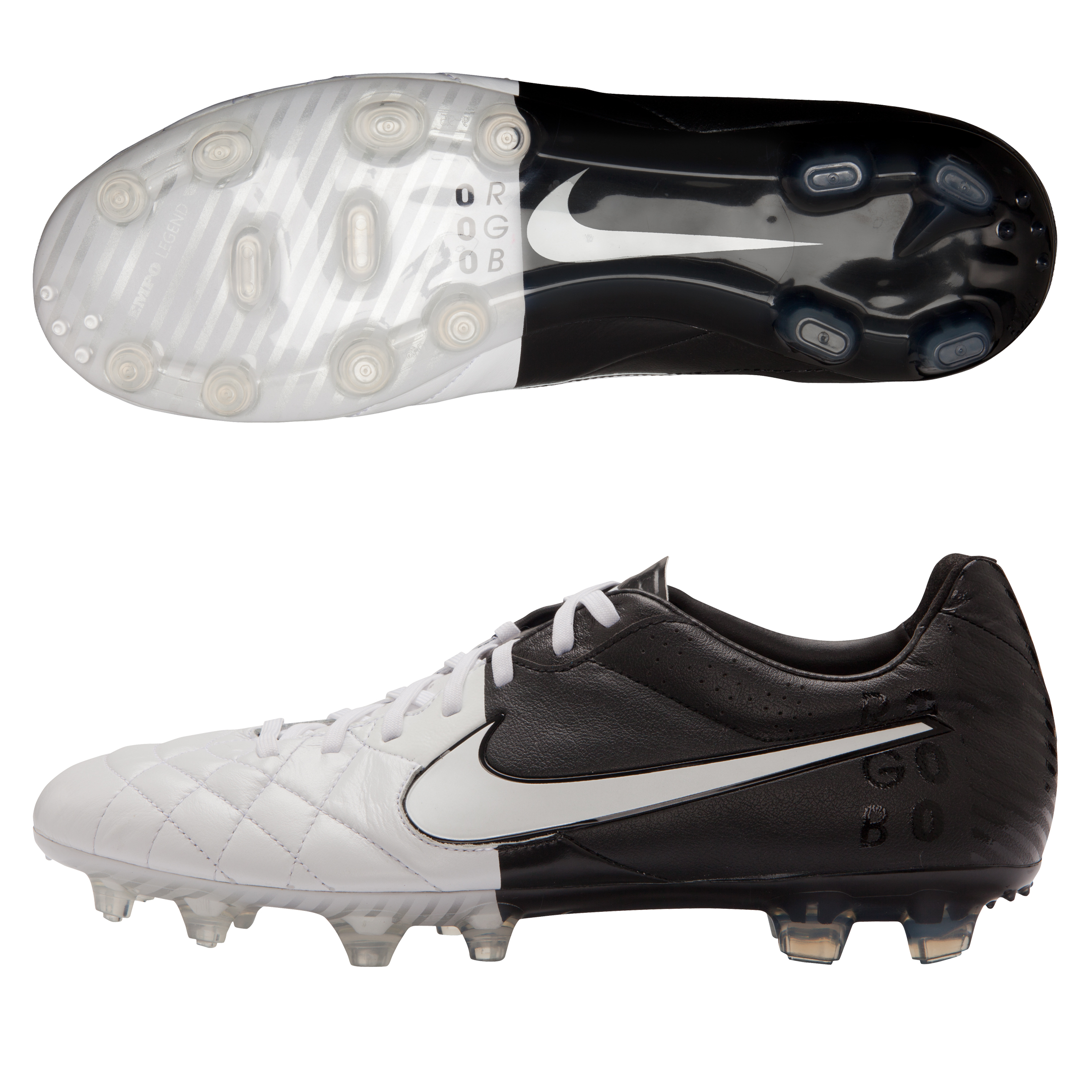Tiempo Legend IV FG White/White/Black