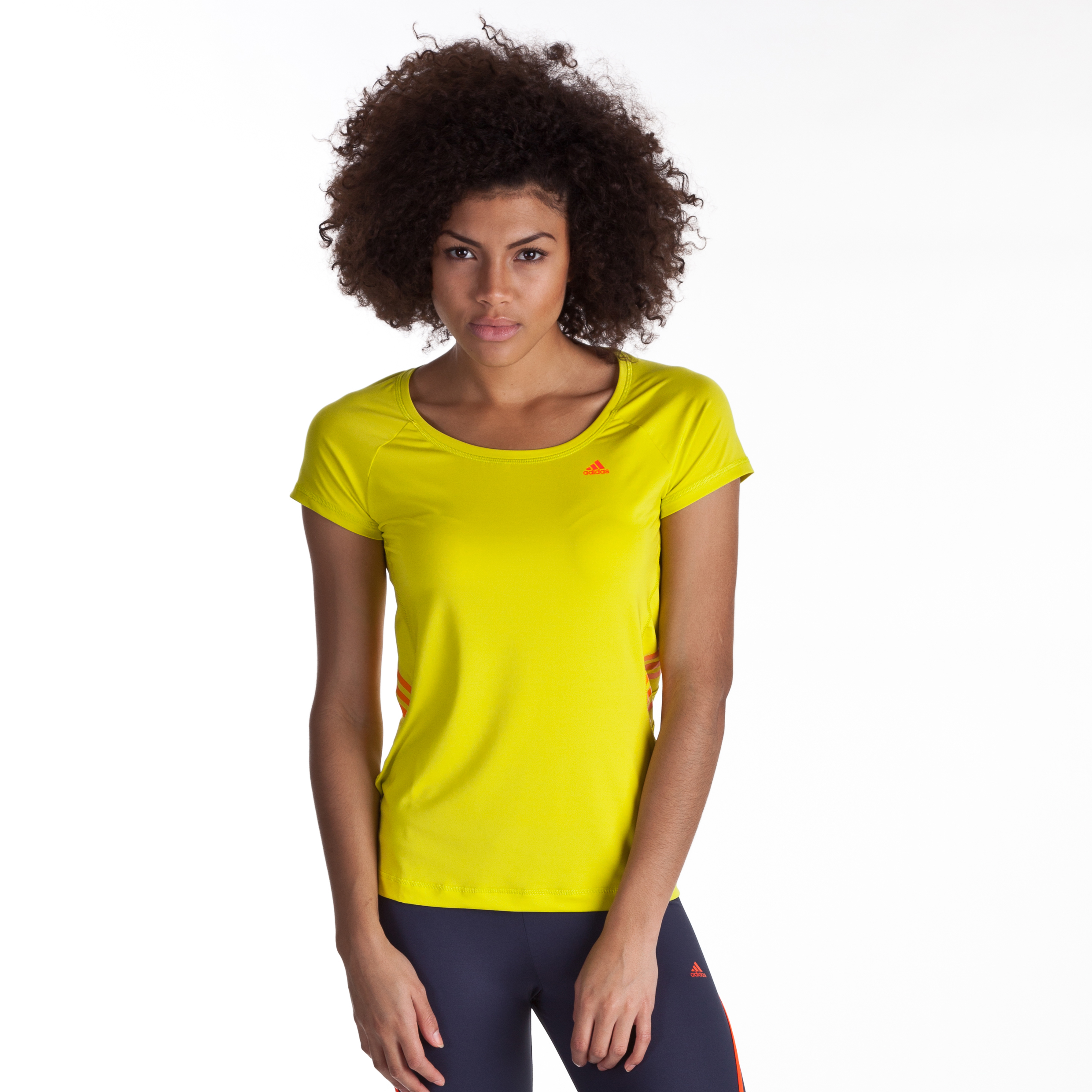 Adidas Adizero Tee - lab lime/infrared - Womens