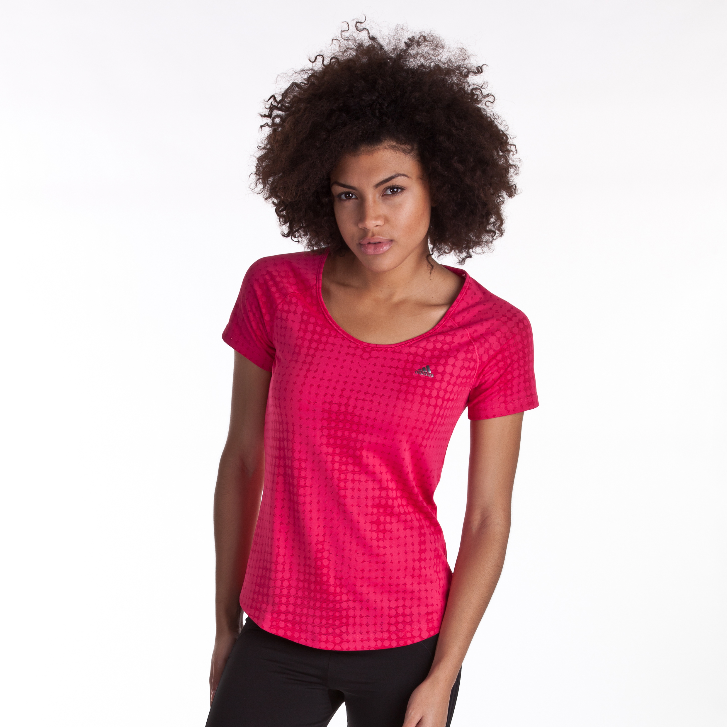 Adidas CLIMACOOL Training Studio Tee - Bright Pink - Womens