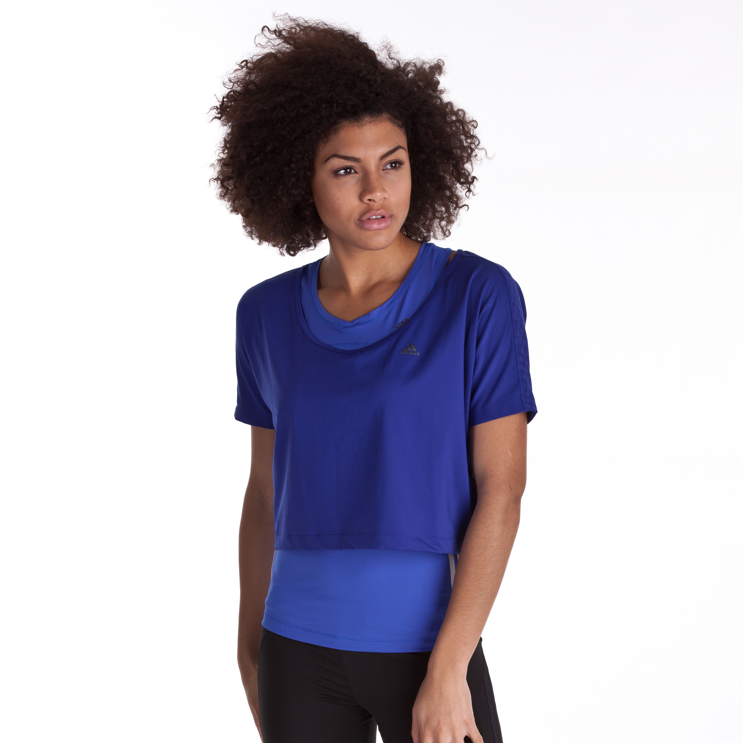 Adidas CLIMACOOL Training Box Tee - Ink Blue - Womens