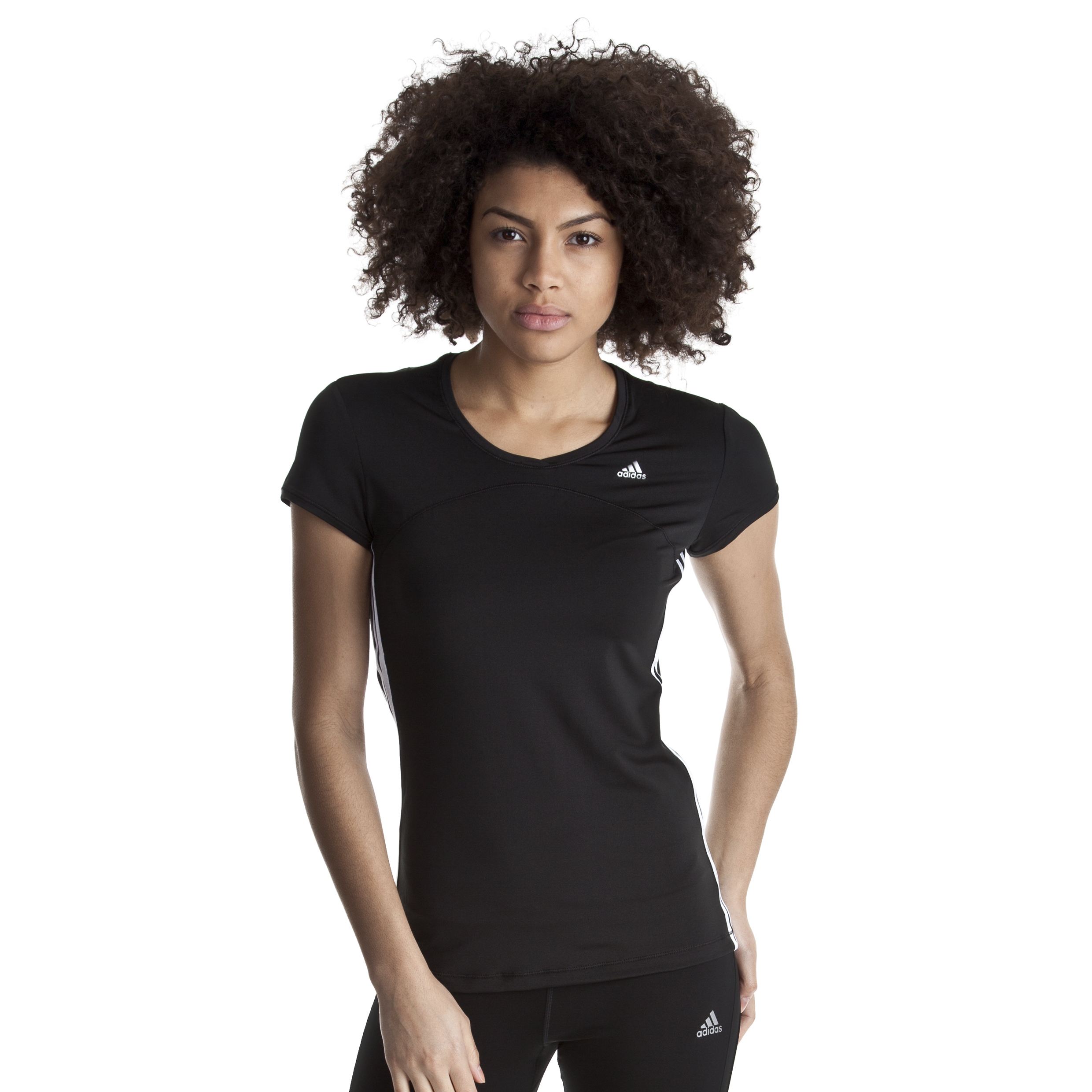 Adidas CLIMACOOL Training Core Tee - Black/White - Womens