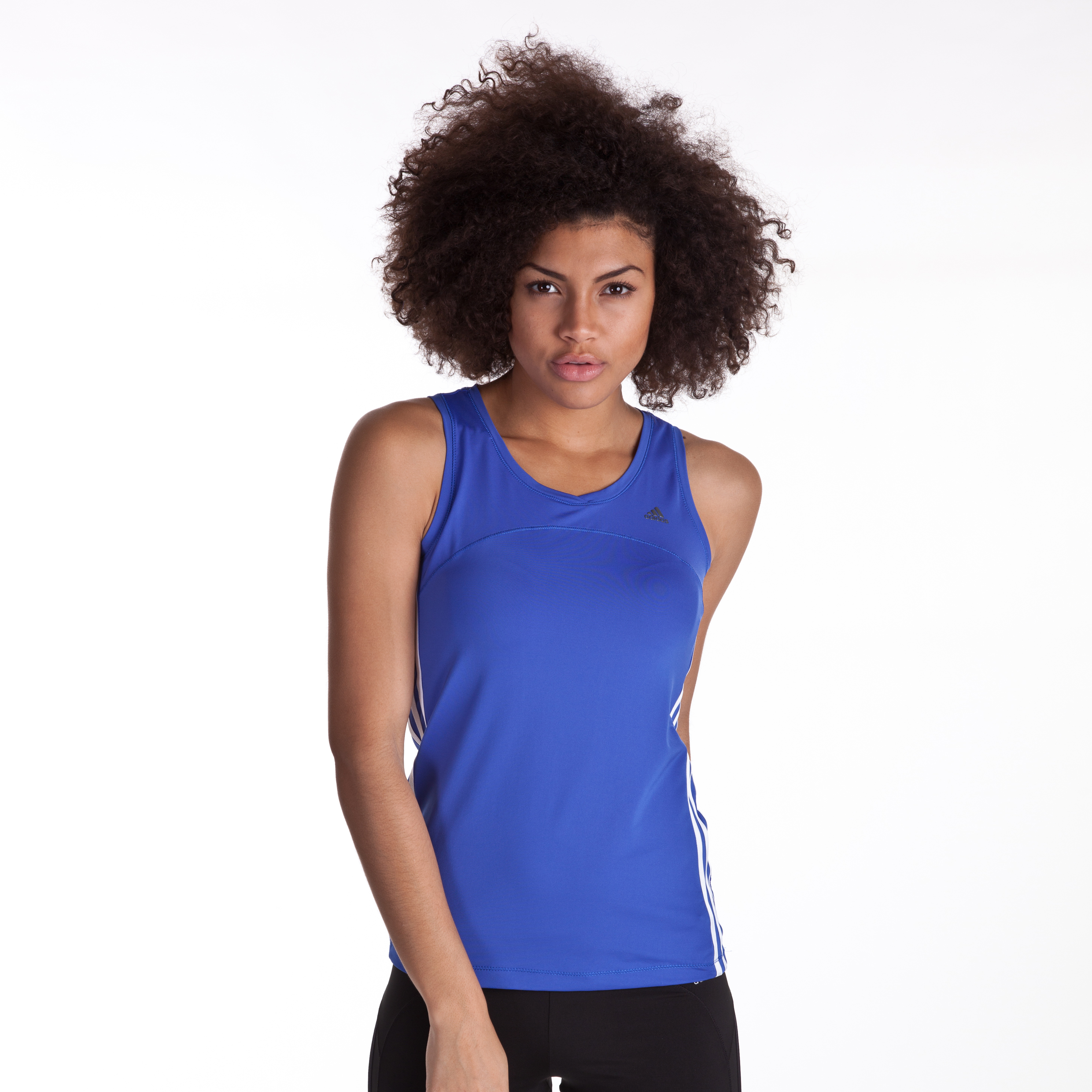 Adidas CLIMACOOL Training Core Tank - Lab Blue/White - Womens