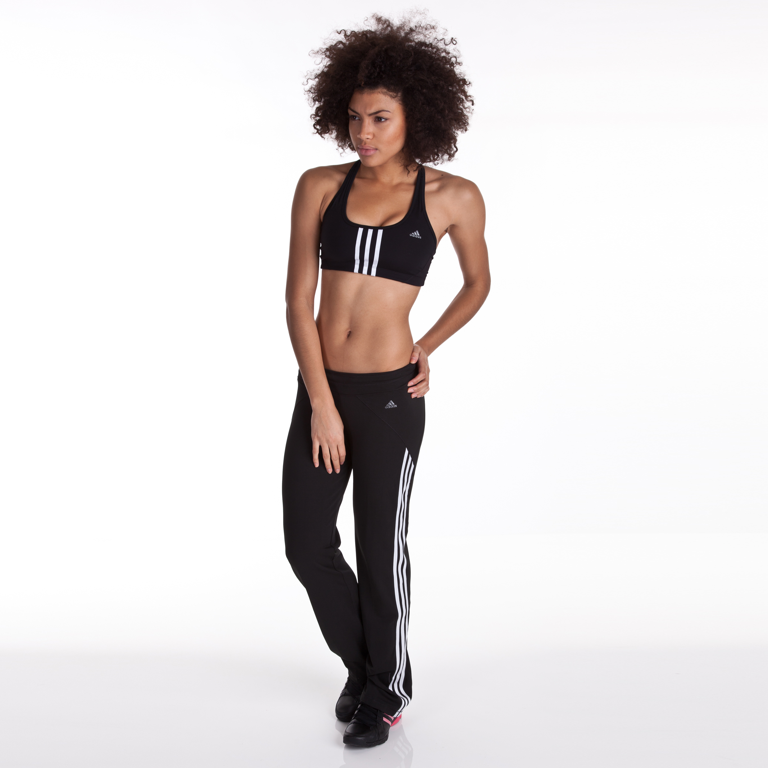 Adidas CLIMACOOL Training Core Straight Pant - Black/White - Womens