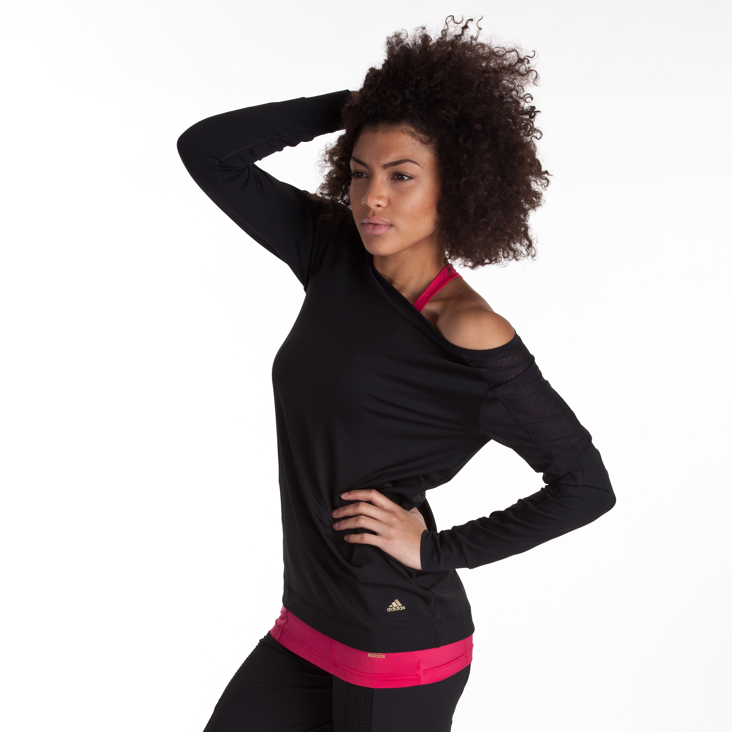 Adidas Studio Power Edge Crew Sweat - Black - Womens