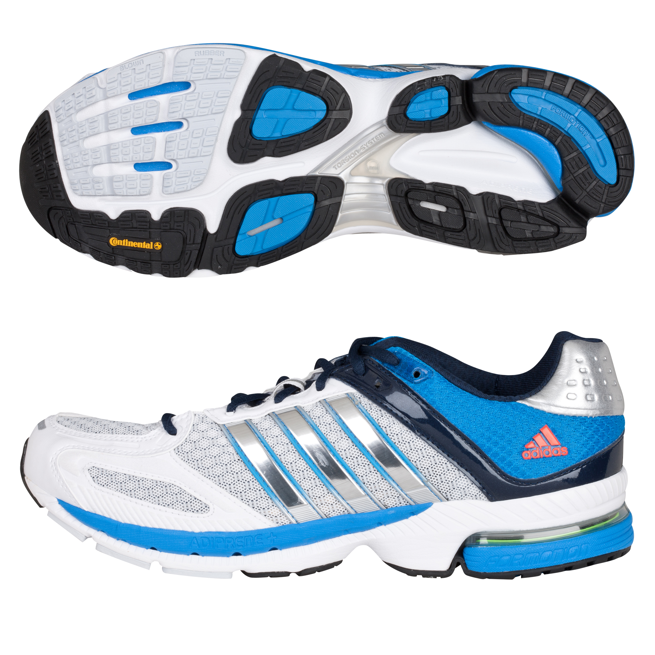 Adidas Snova Seq 5 Trainers - White/Metallic Silver/Bright Blue