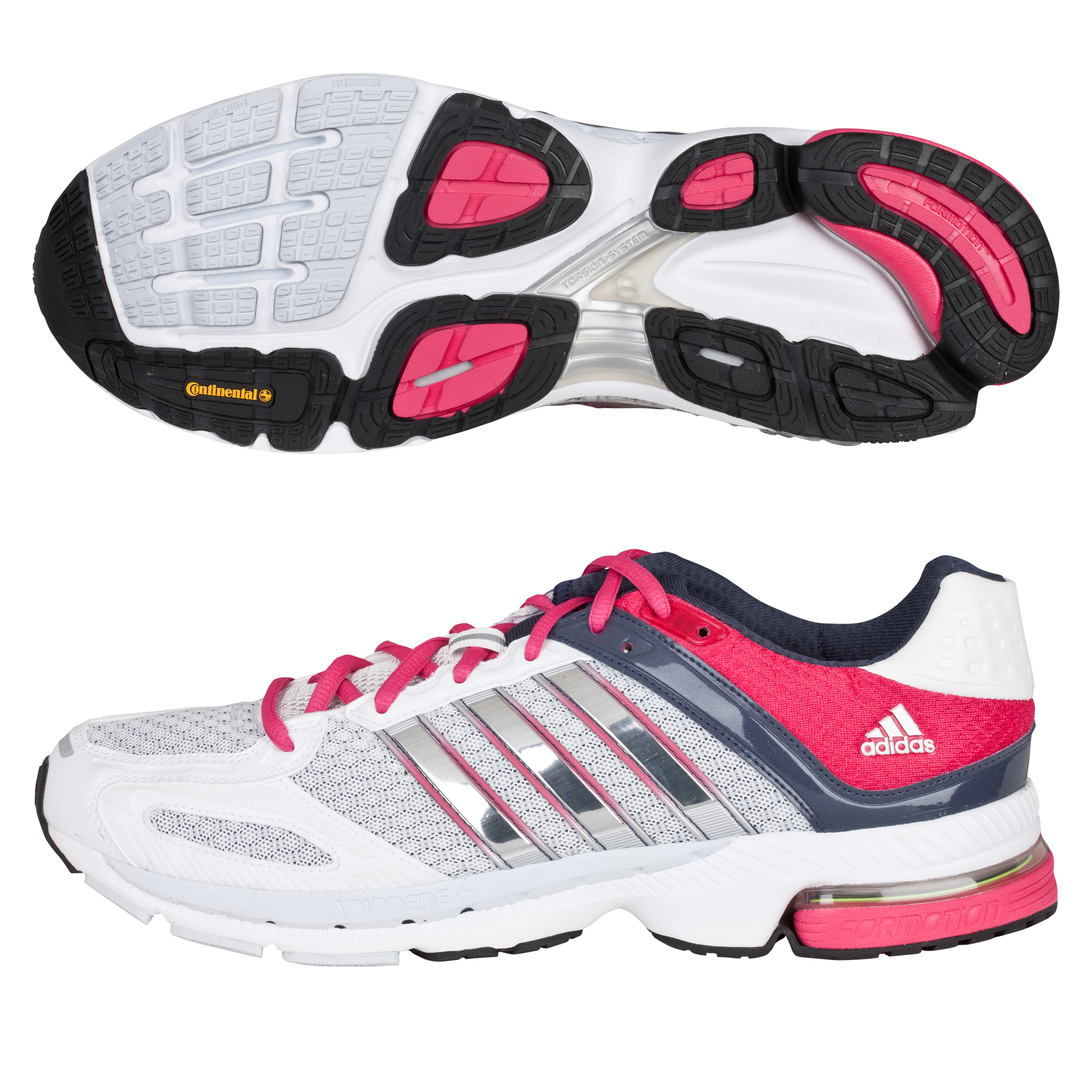 Adidas Snova Seq 5 Trainers - White/Zero Met/Bright Pink - Womens