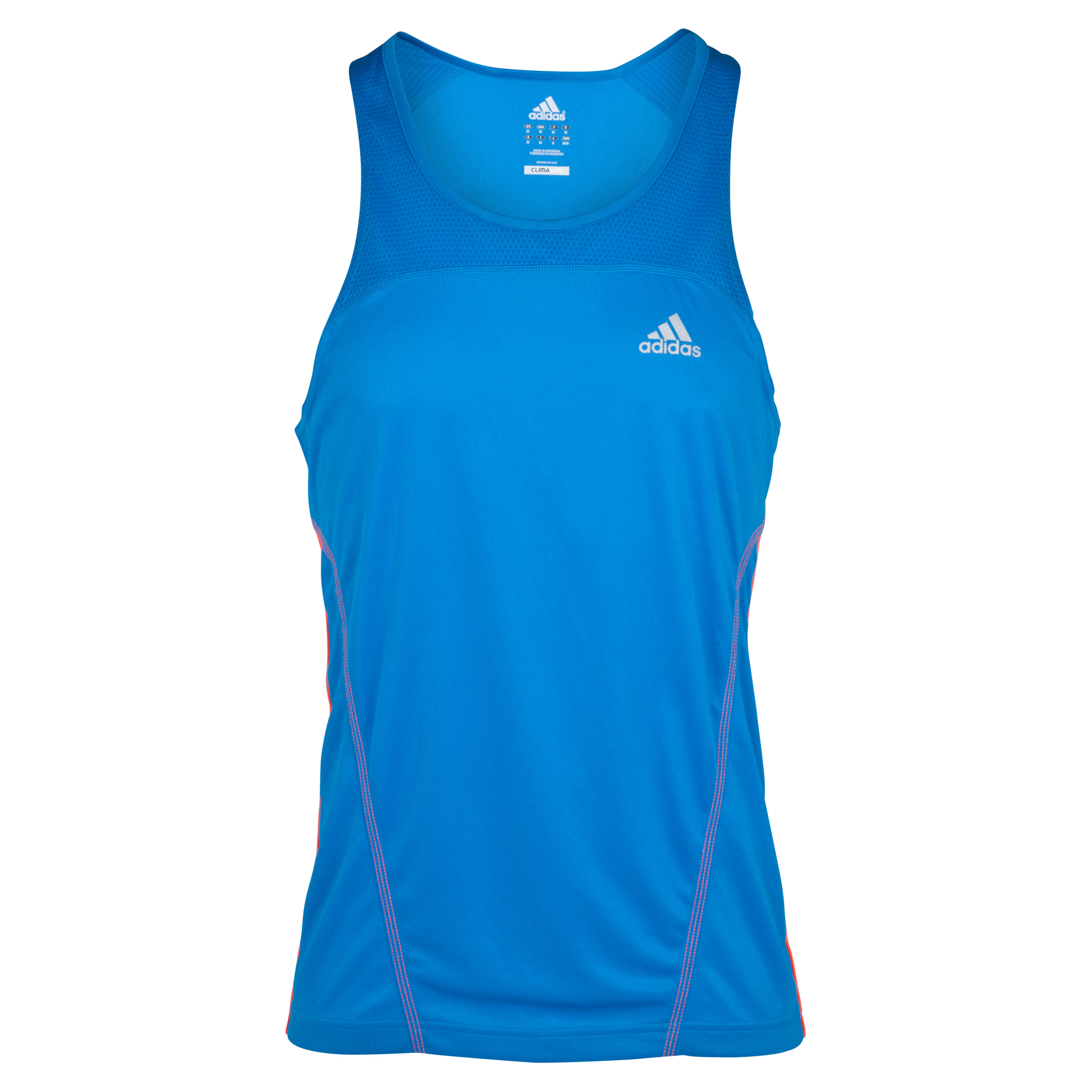 Adidas Response DS Singlet Vest - Bright Blue/Infrared