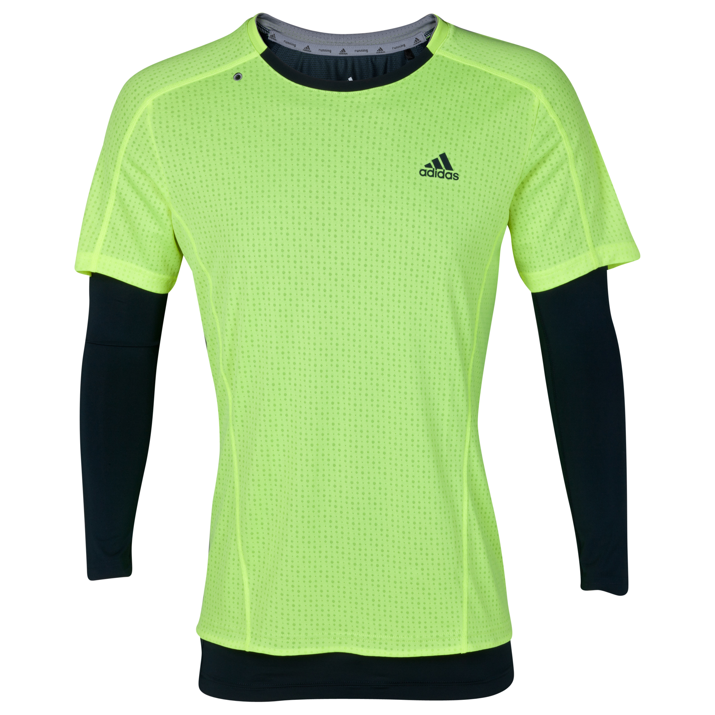 Adidas Supernova 2in1 T-Shirt - Long Sleeve - Electricity/Tech Onix