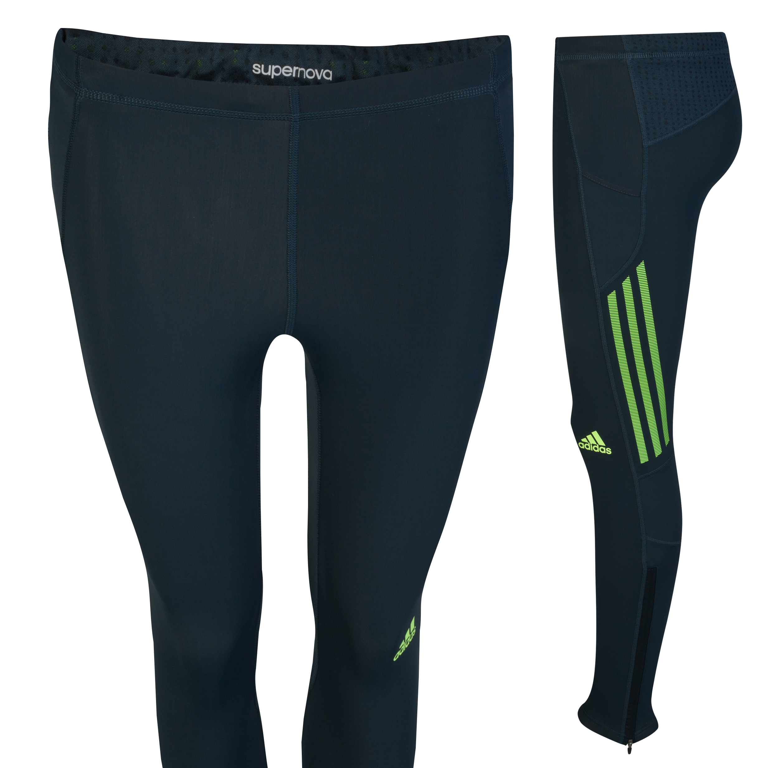 Adidas Supernova Long Tights - Tech Onix/Electricity