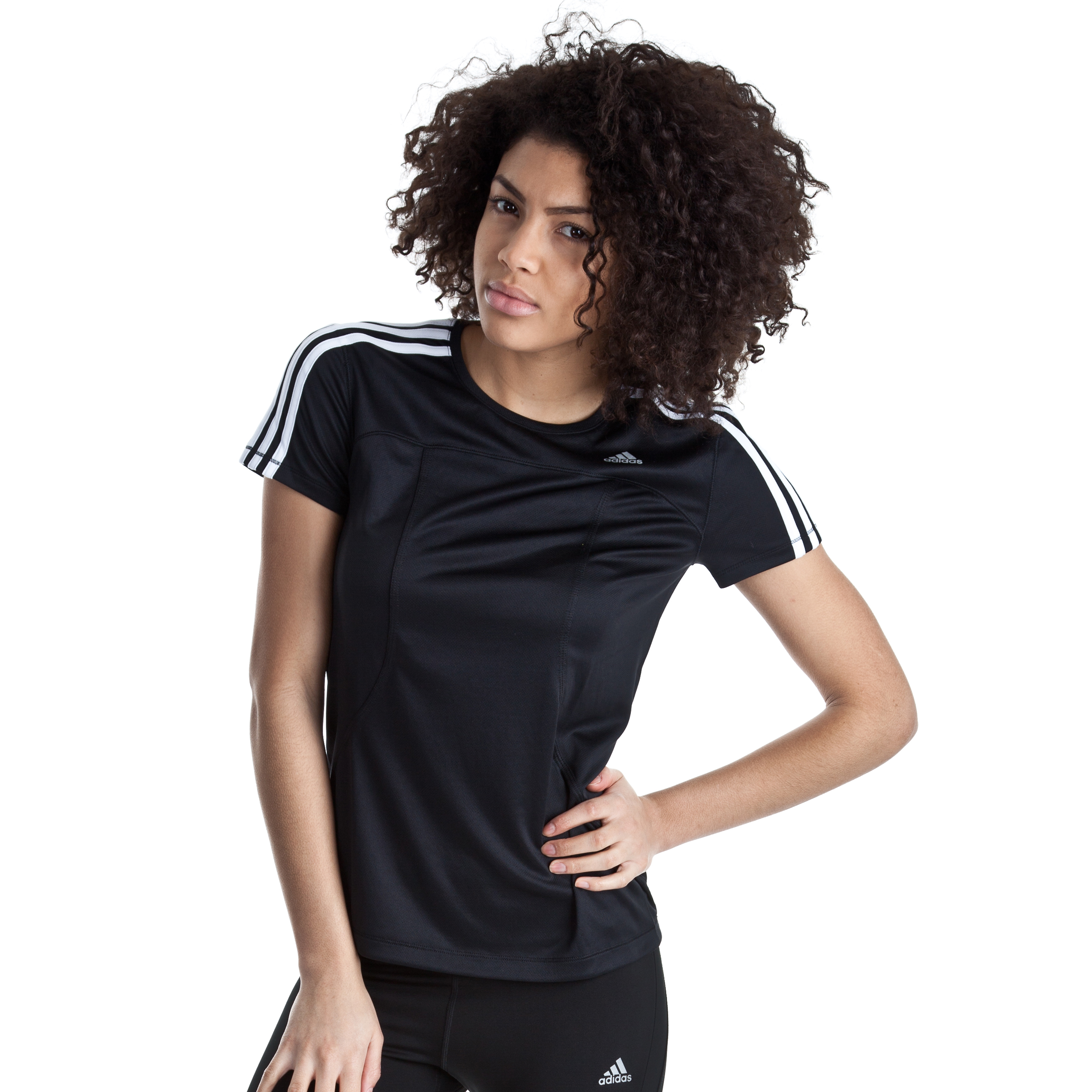 Adidas Response DS T-Shirt - Black/White - Womens