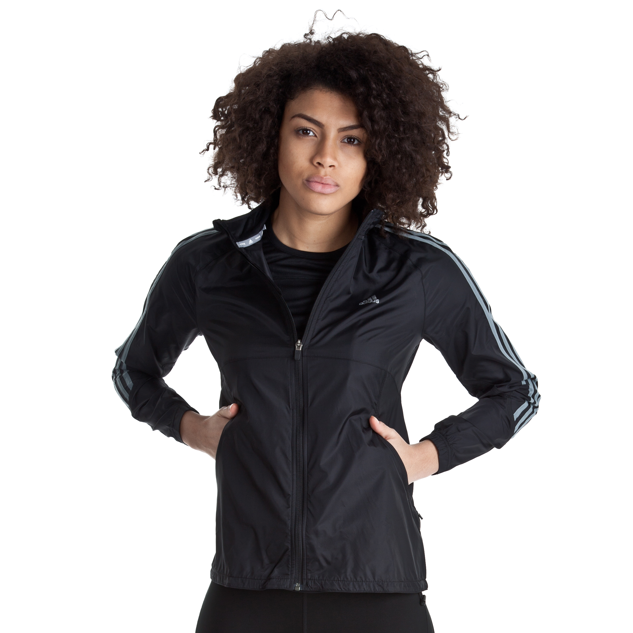Adidas Response DS Wind Jacket - Black/Tech Grey - Womens
