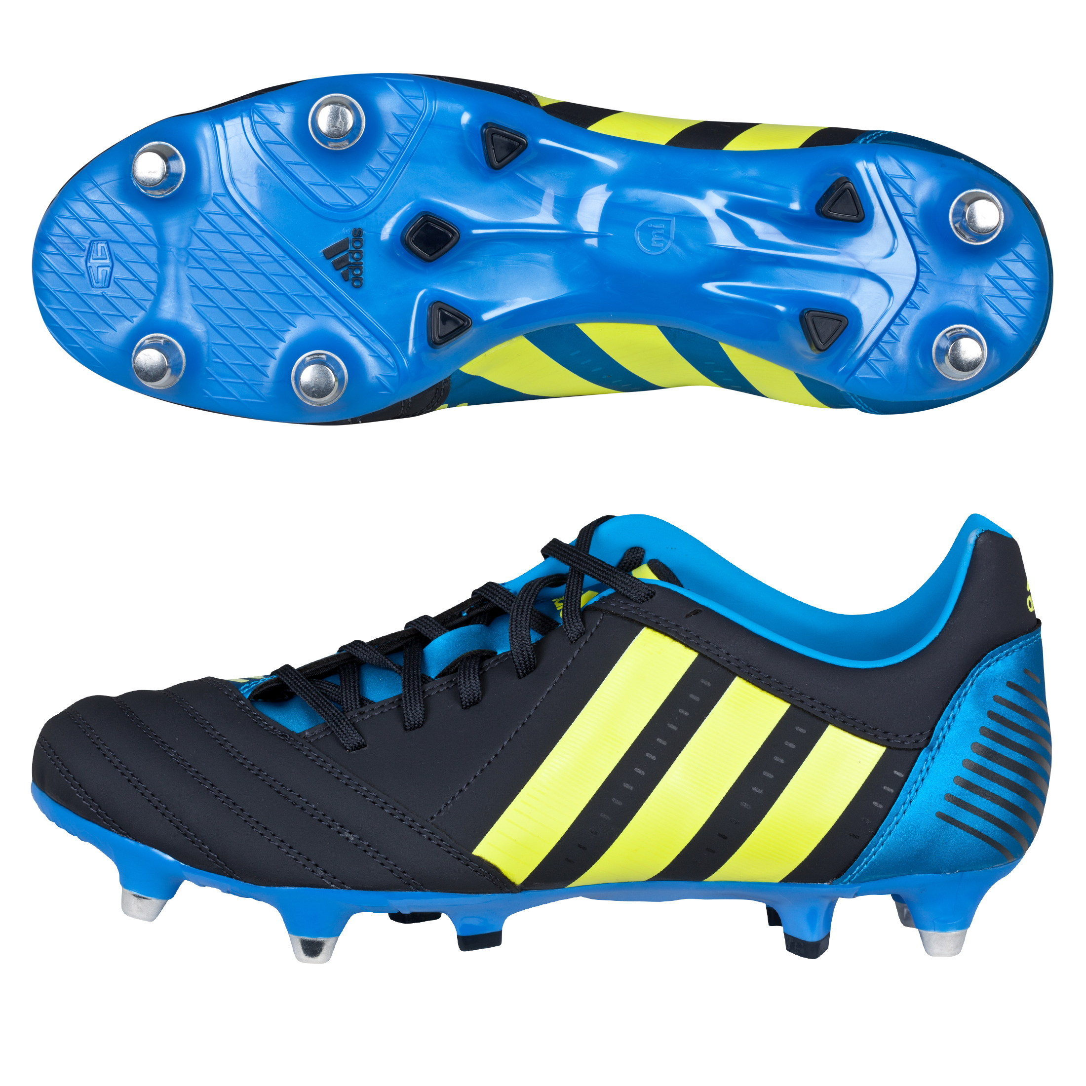 Adidas Absolado RXV TRX Soft Ground Rugby Boots - Punjab/Lab Lime/Bright Blue