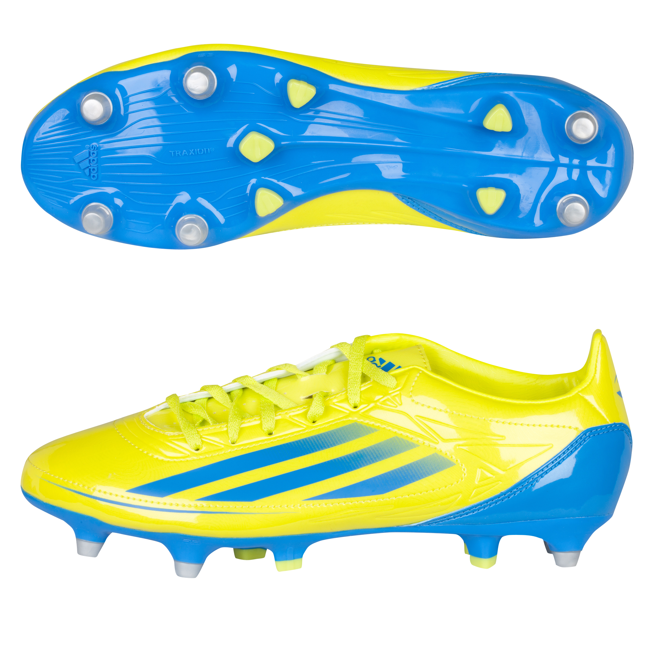 Adidas RS7 II TRX Soft Ground Rugby Boots - Lab Lime/Bright Blue