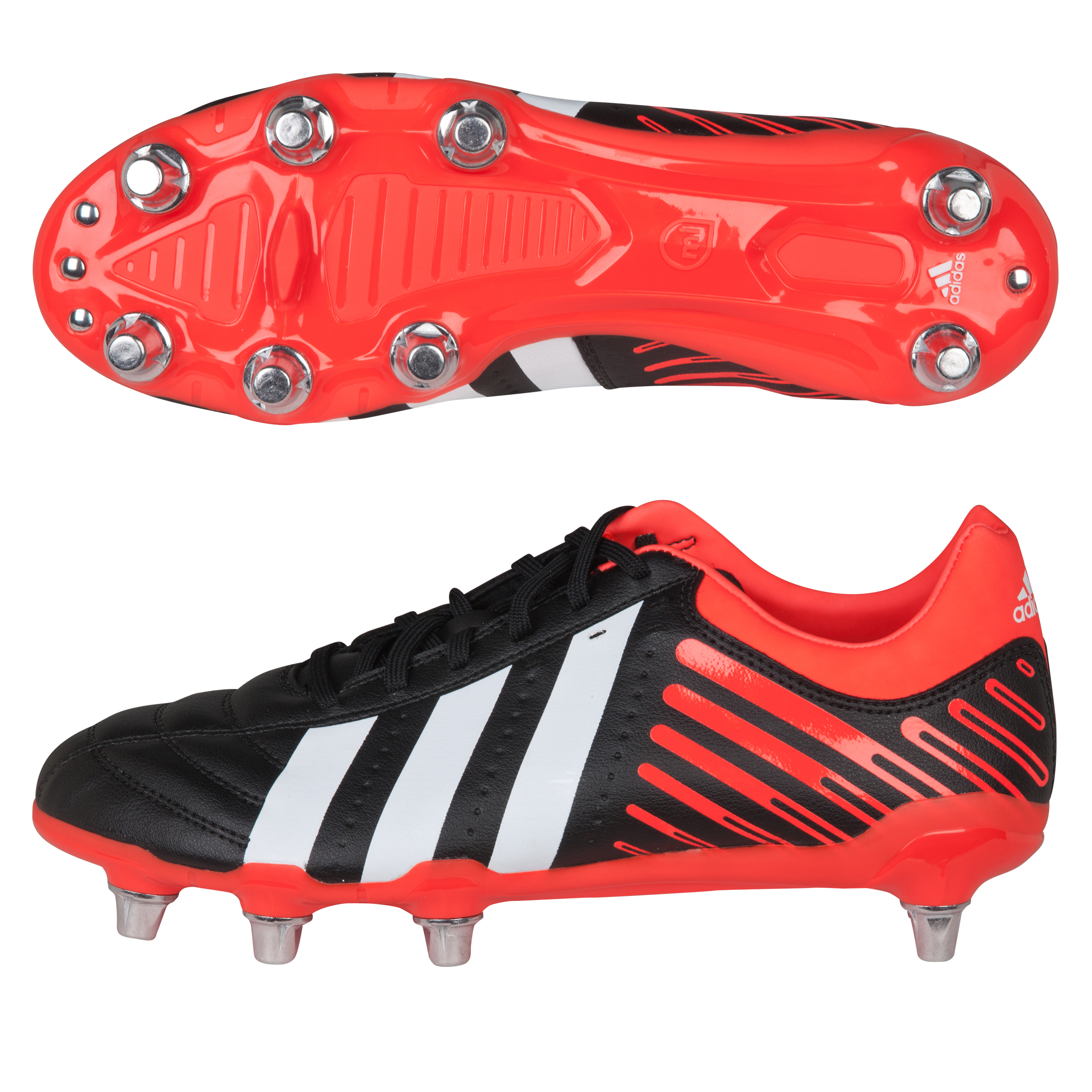 Adidas Regulate Kakari Soft Ground Rugby Boots - Black/Running White/Infrared
