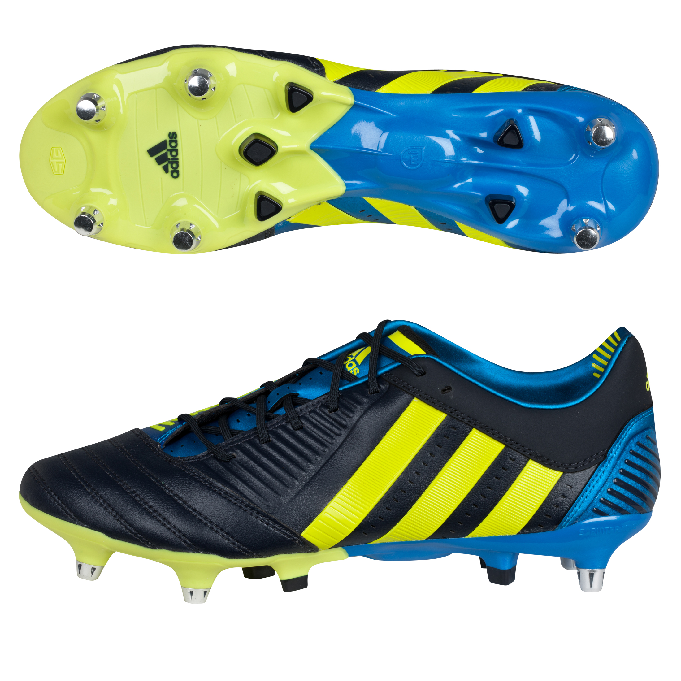 Adidas Predator RXV XTRX Soft Ground Rugby Boots - Punjab/Lab Lime/Bright Blue