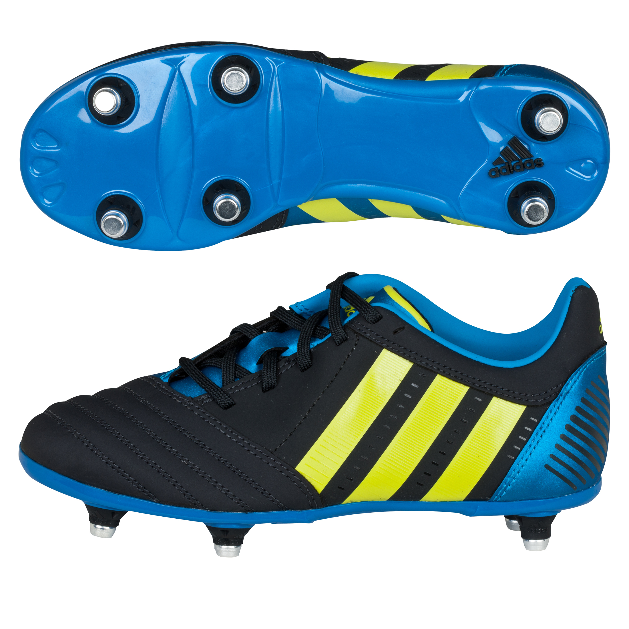 Adidas Absolado RXV TRX Soft Ground Rugby Boots - Punjab/Lab Lime/Bright Blue - Kids
