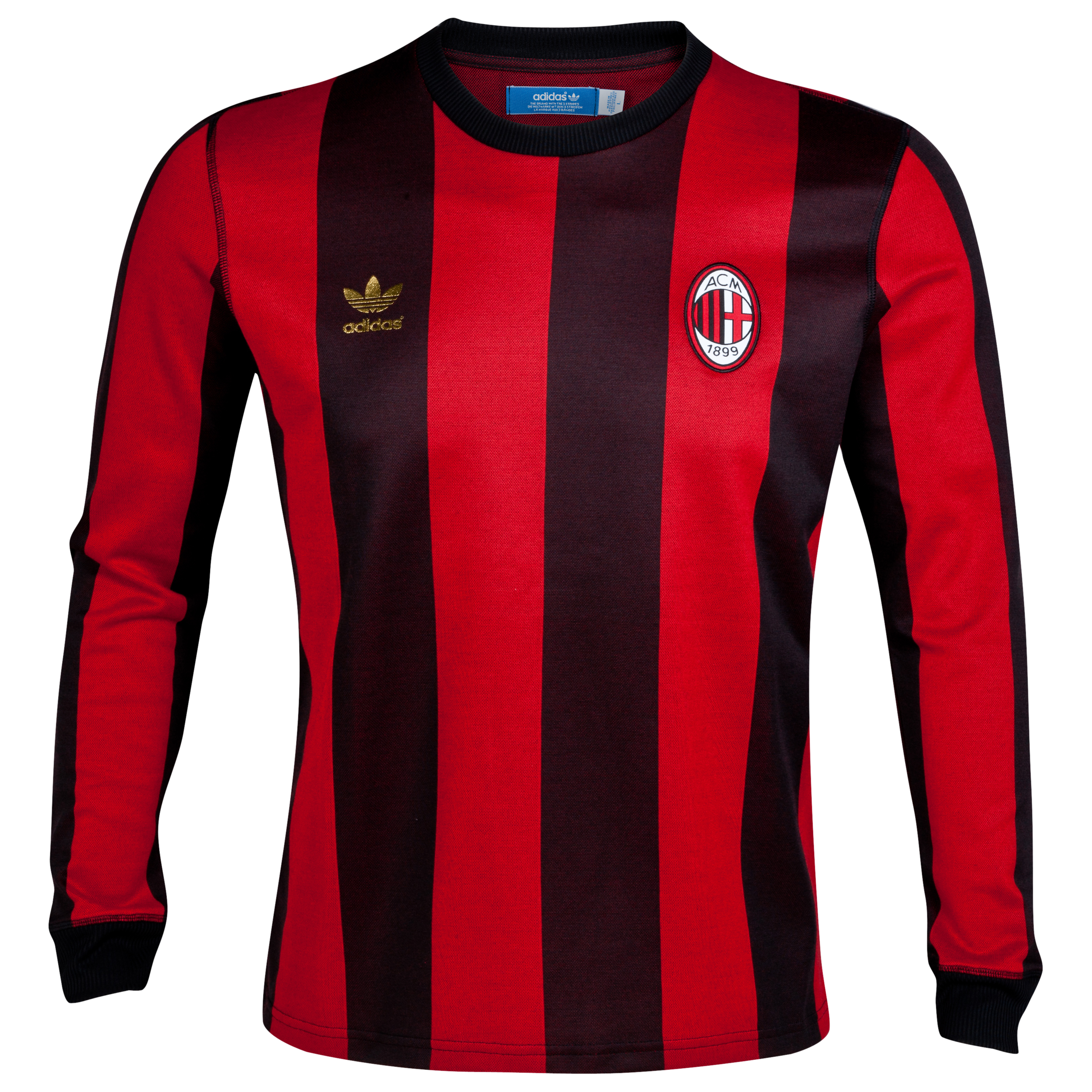 adidas Originals AC Milan Long Sleeve Top - Light Scarlet/Black