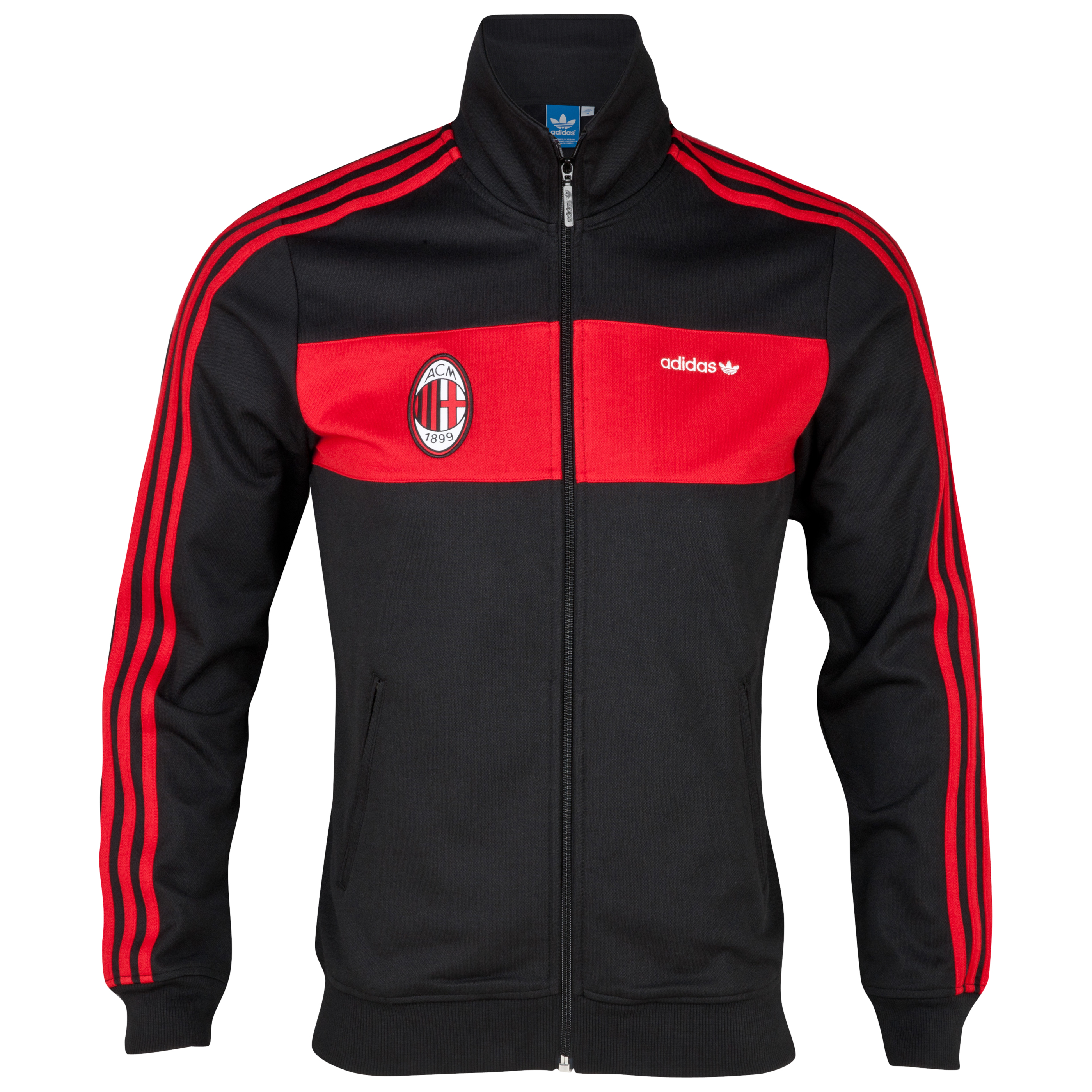 adidas Originals AC Milan Beckenbauer Track Top - Black / University Red