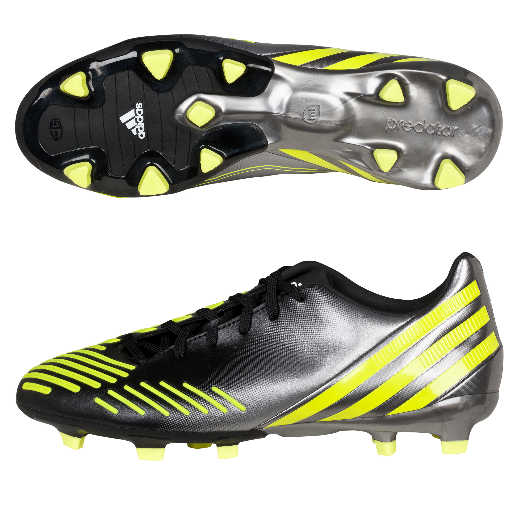 Adidas Predator Absolion LZ TRX Firm Ground Football Boots - Black/Lab Lime/Neo Iron Met